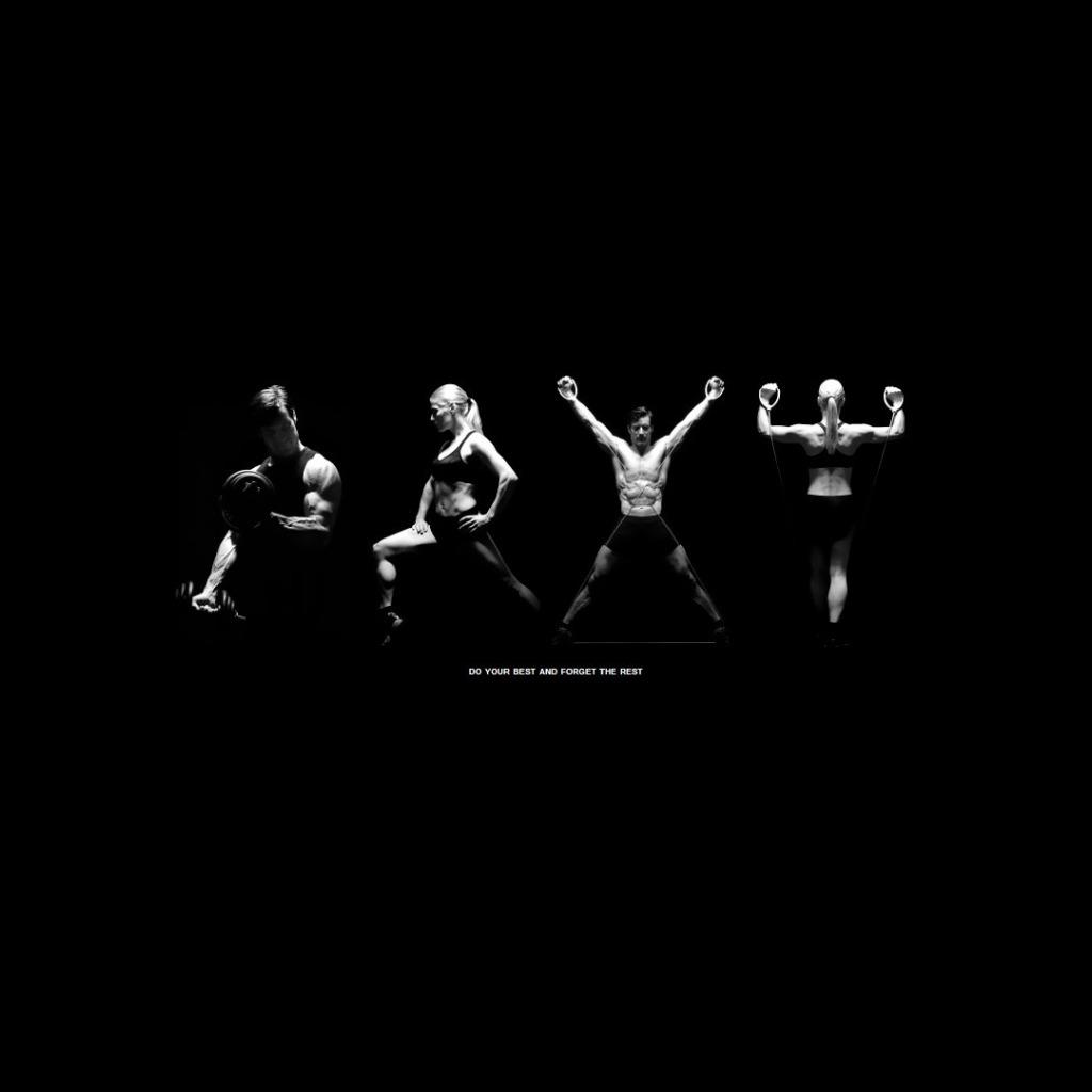 чёрно белые картинки спорт