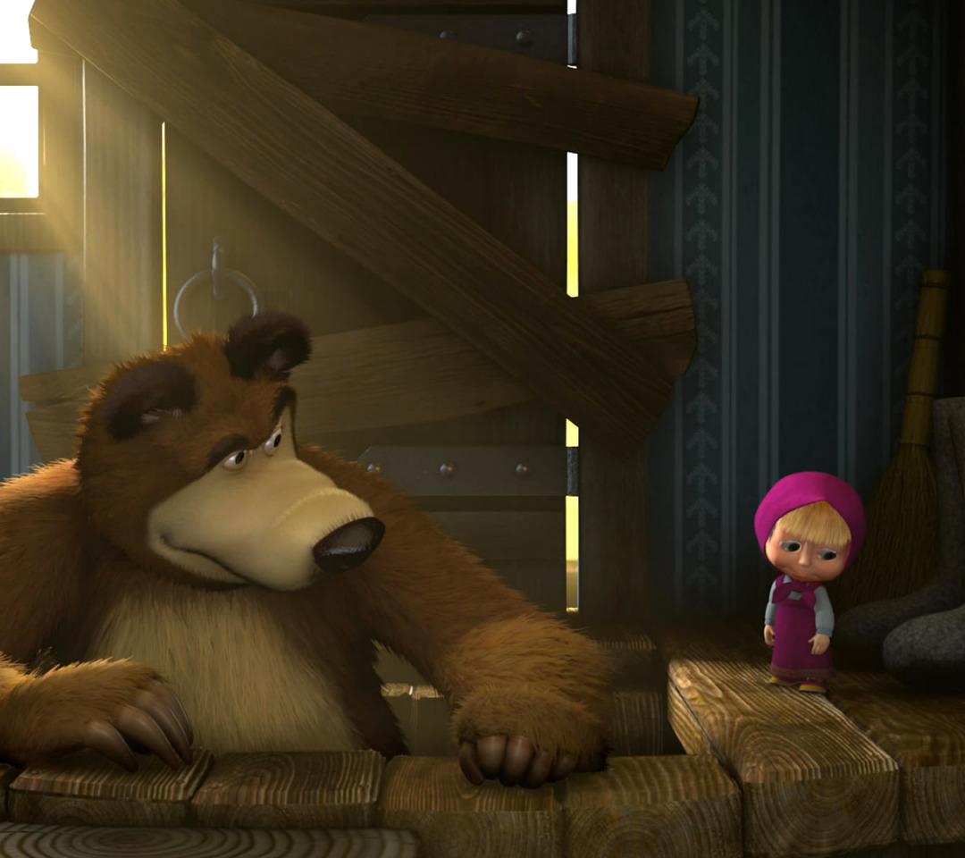 маша и медведь первая встреча гифка моя идея