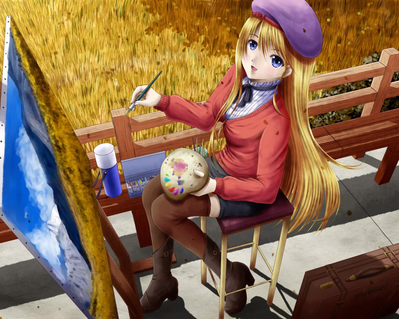 Картинки на тему девочка рисует, оформление открытки