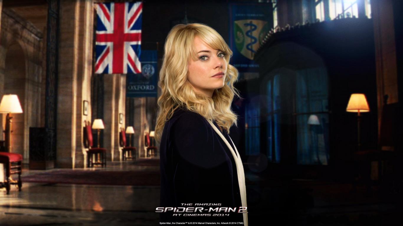 Обои Новый человек-паук, эмма стоун, Emma stone, the amazing spider-man. Фильмы foto 6