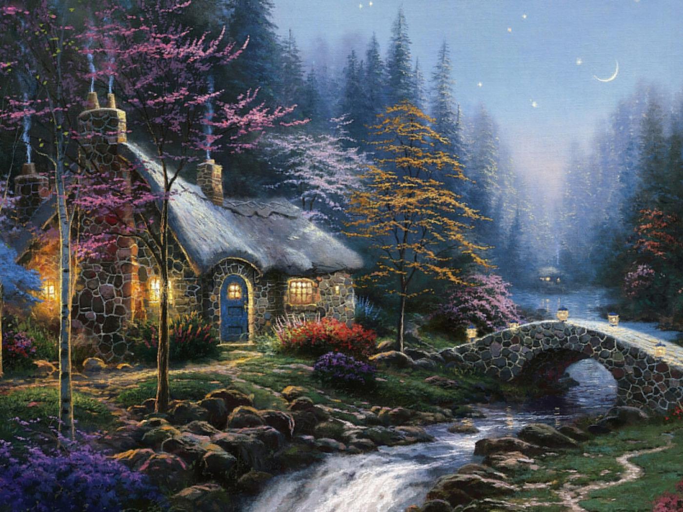 Прикольные средой, осень сказочный домик гифка