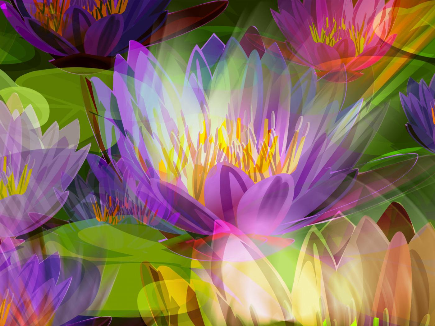 Обои клумба, цветы, луг, рисунок, тычинки. Абстракции foto 18
