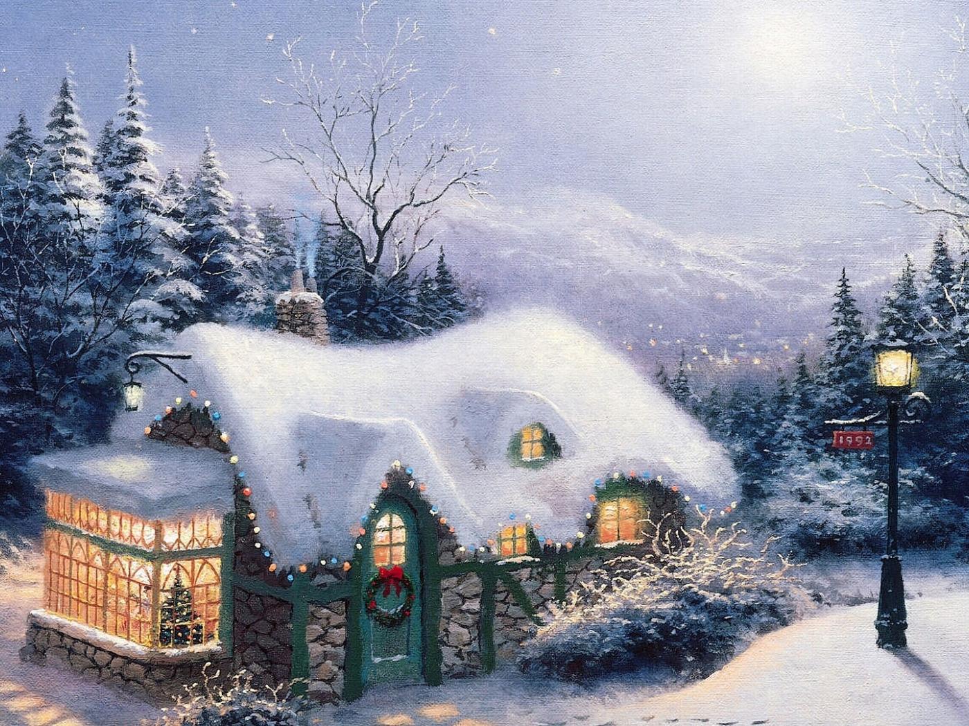 Снежные открытки с новым годом