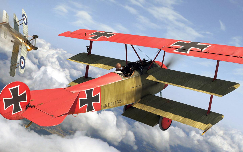 Обои сил, триплан, Fokker dr.1, военно-воздушных, истребитель. Авиация foto 10
