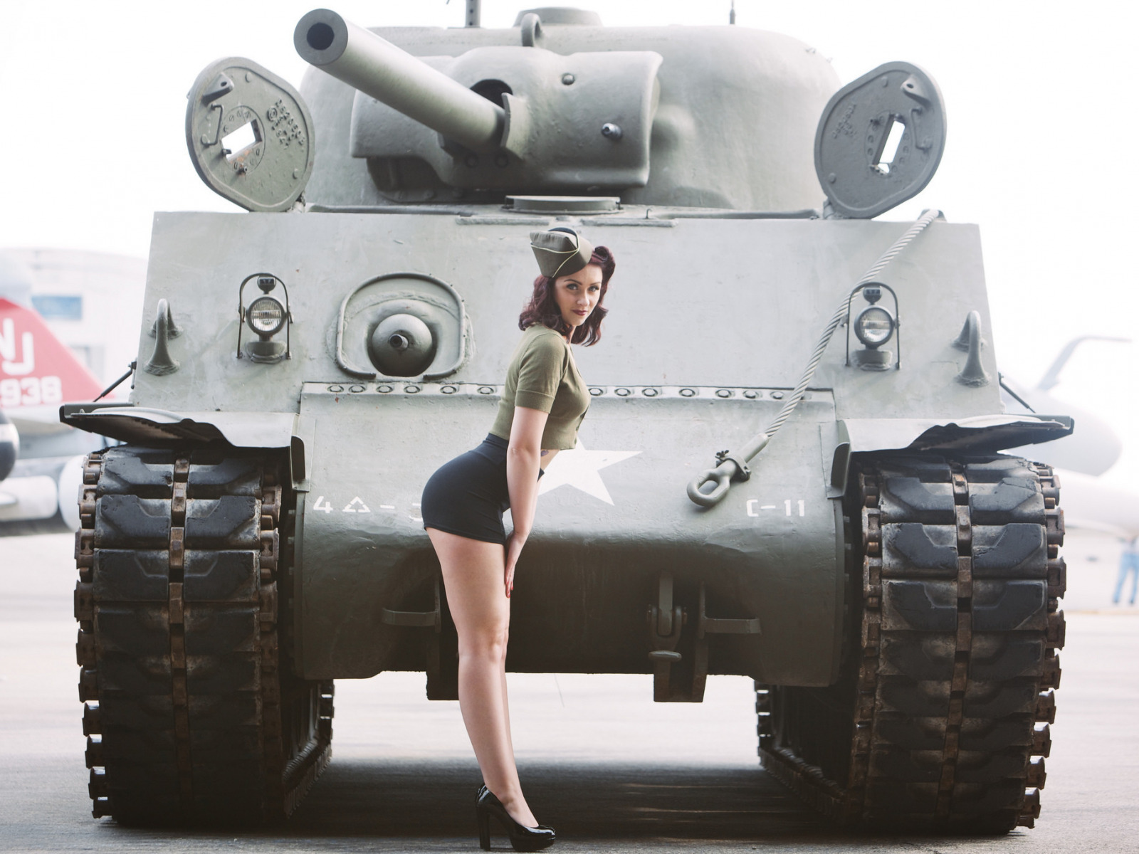 Classic girl tank, playboy girl fucking hard pain