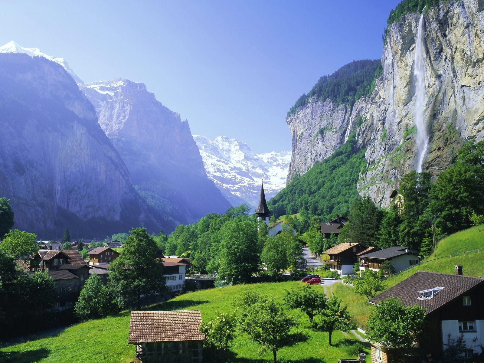 альпийские горы фото для рабочего стола очень красивая