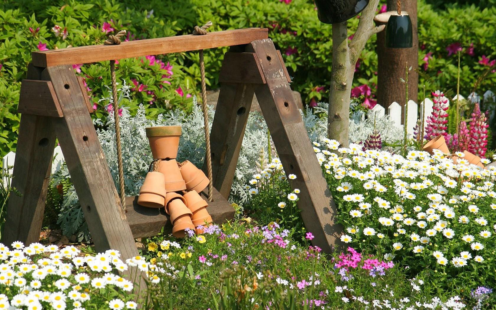 Декор сада своими руками оригинальные идеи фото
