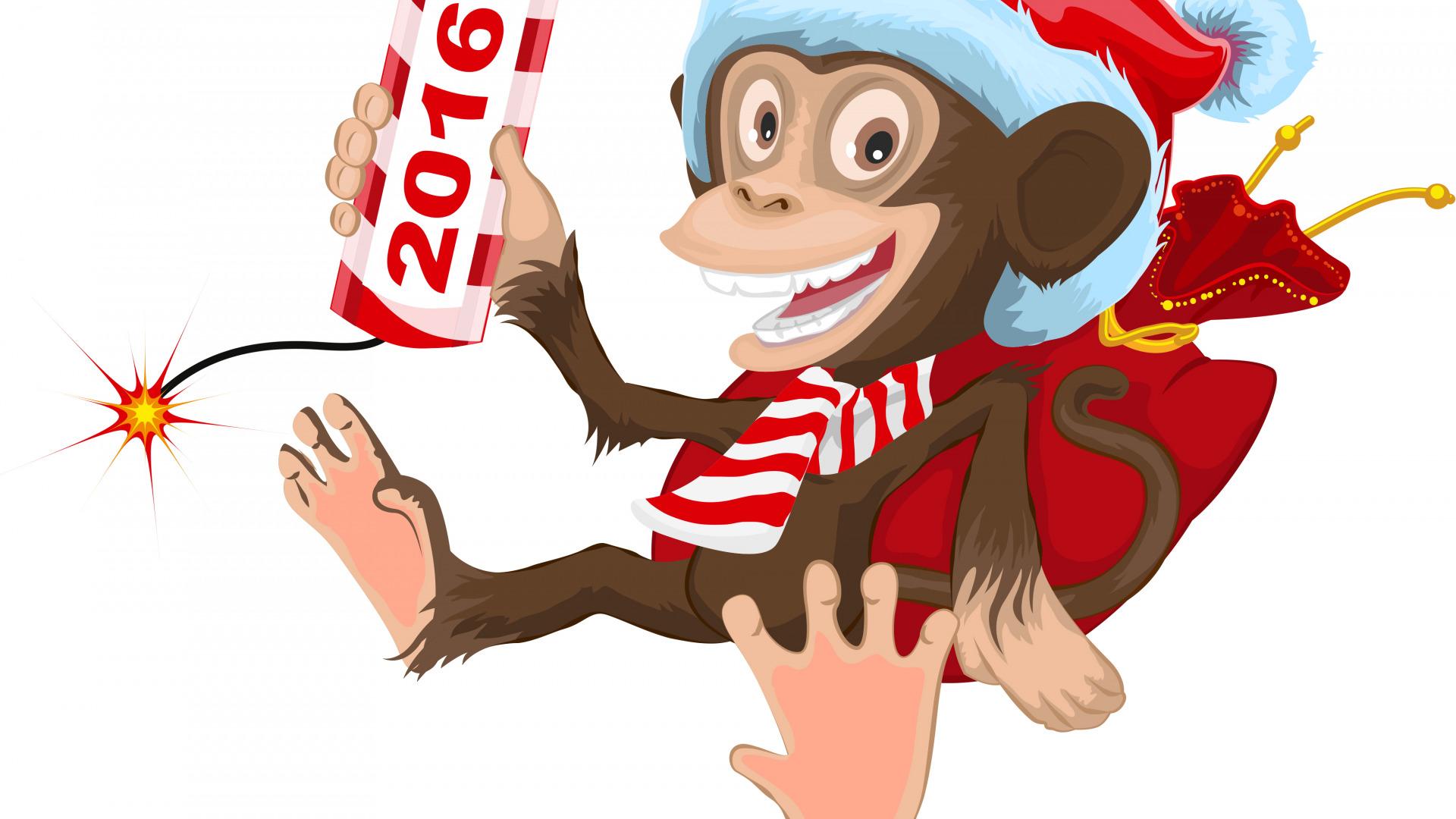 картинки мультяшных обезьянок к новому году позырить пару