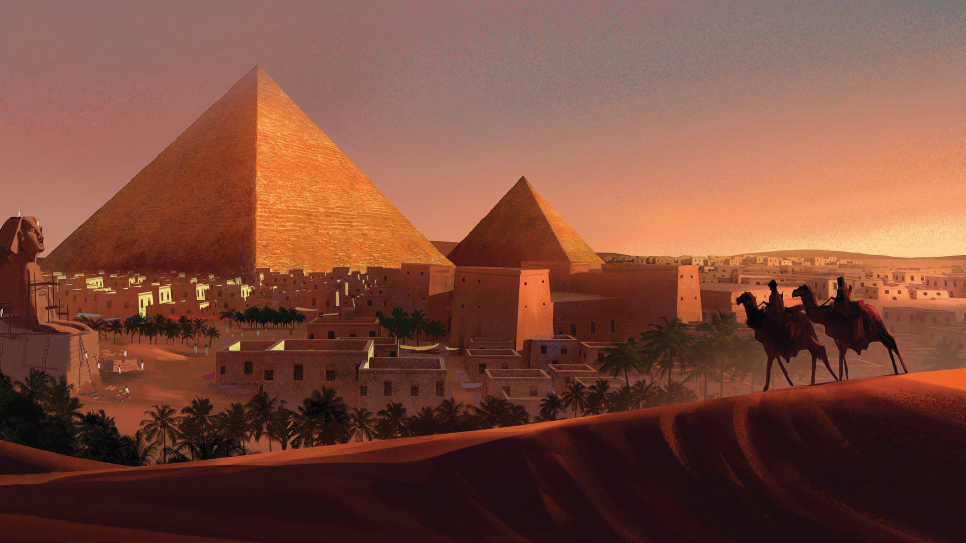 the historical construction of egypts great pyramids [in photos: inside egypt's great pyramids] giza pyramids the first, and largest, pyramid at giza was built by the pharaoh khufu (reign started around 2551 bc.