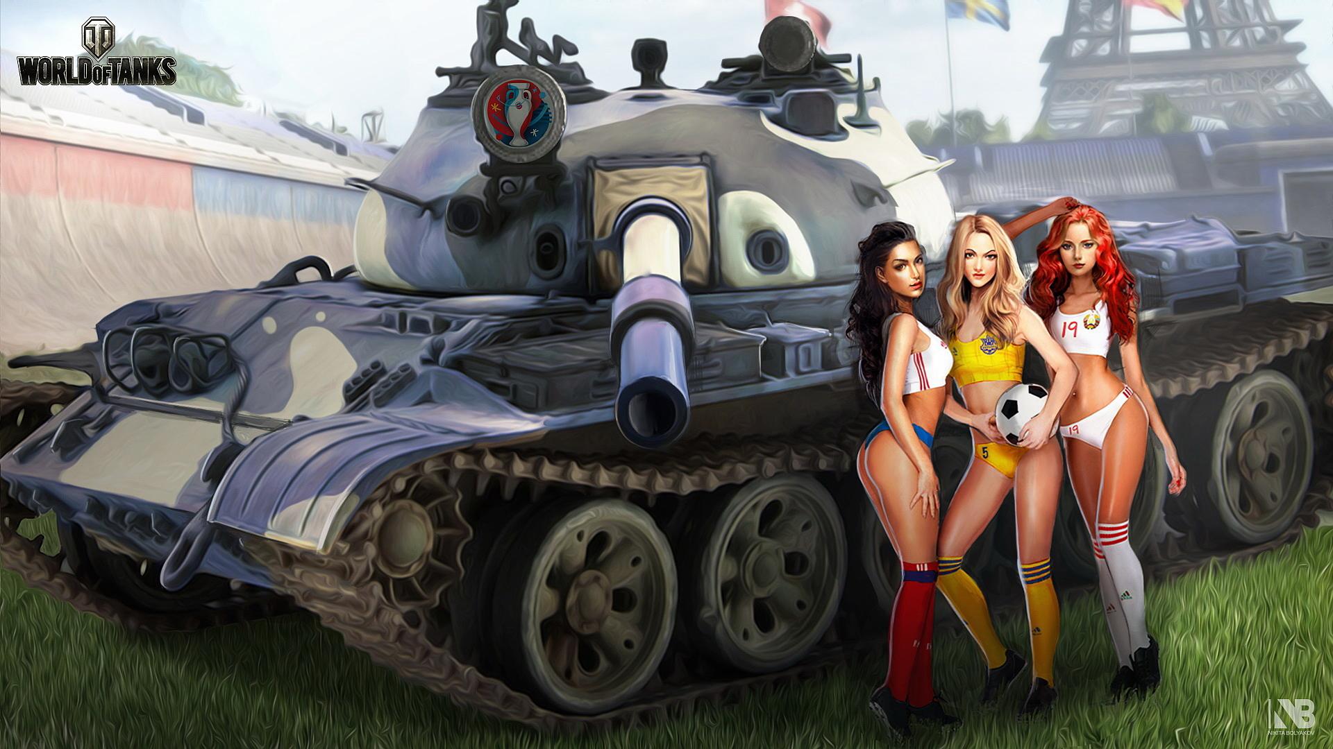 обои на рабочий стол танки world of tanks девушки № 204928  скачать