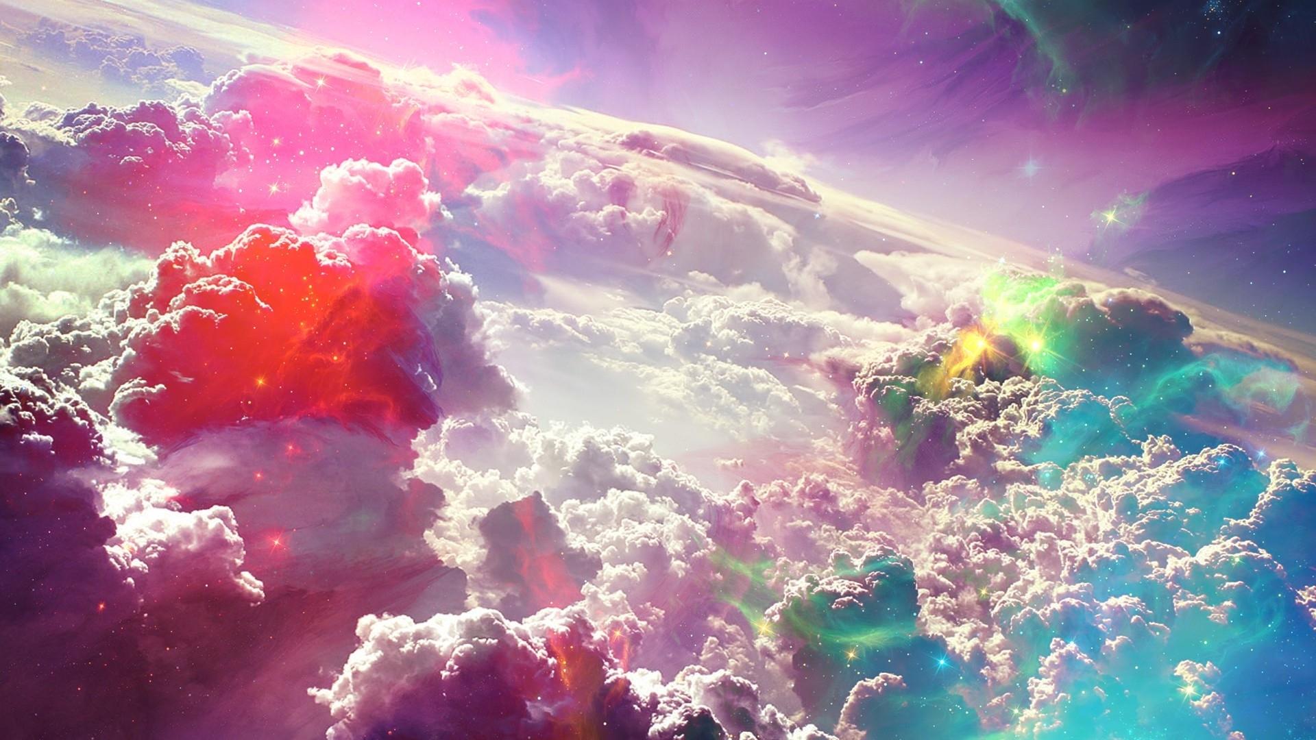 Обои Цвет, Облака, узор, свет. Абстракции foto 16