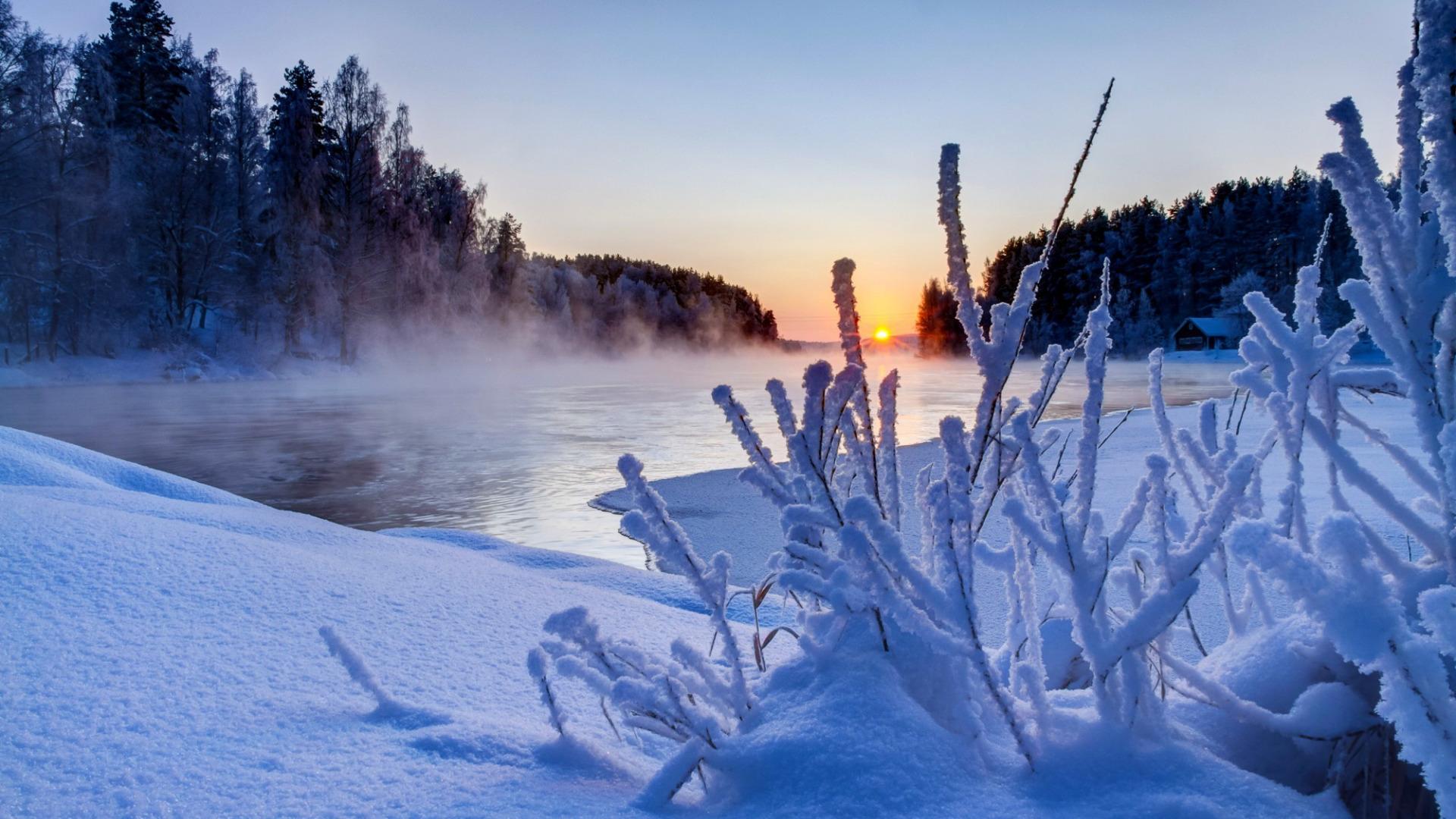 Видео красивые зимние пейзажи