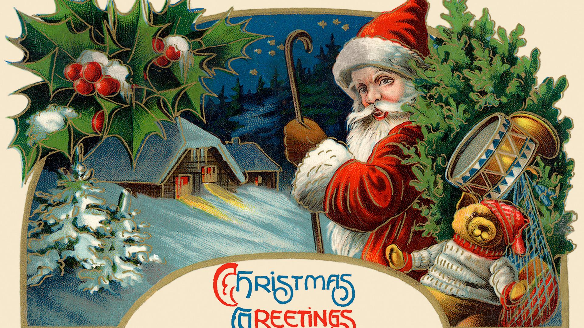 Старинные открытки с рождеством католическим