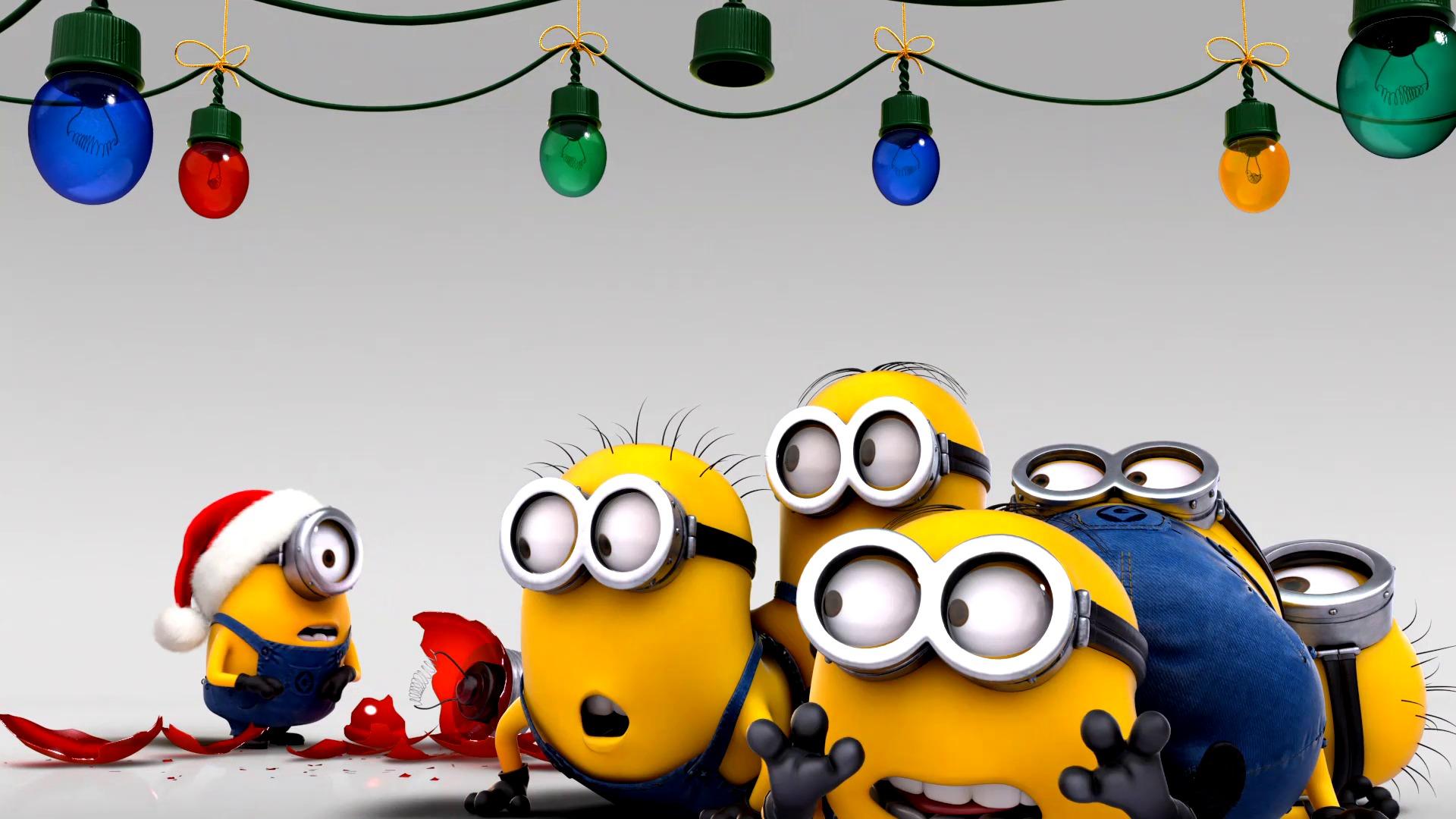 решение картинки новый год с миньонами лучшем фоне