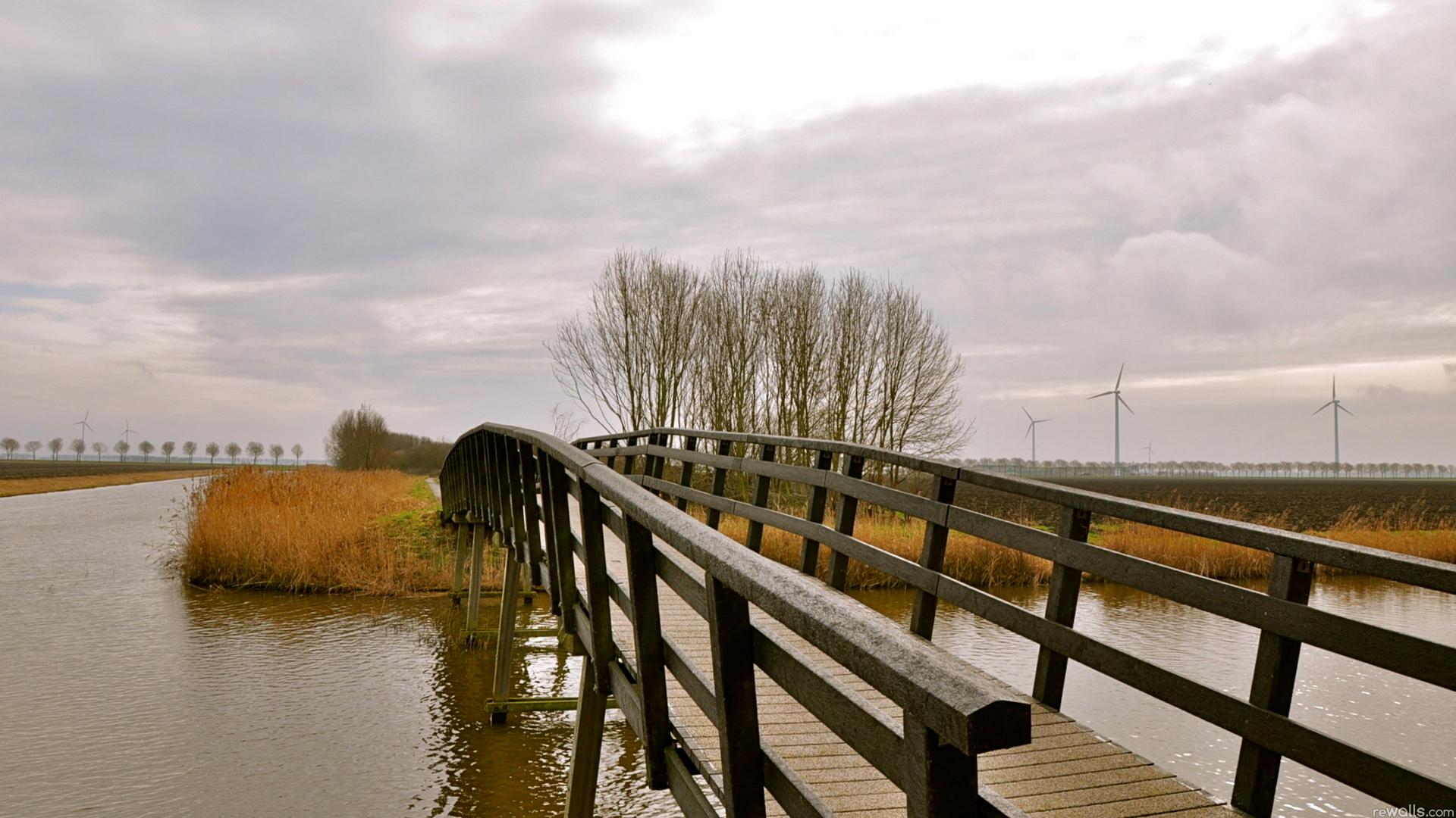 Мельница река мостик  № 2785834 загрузить