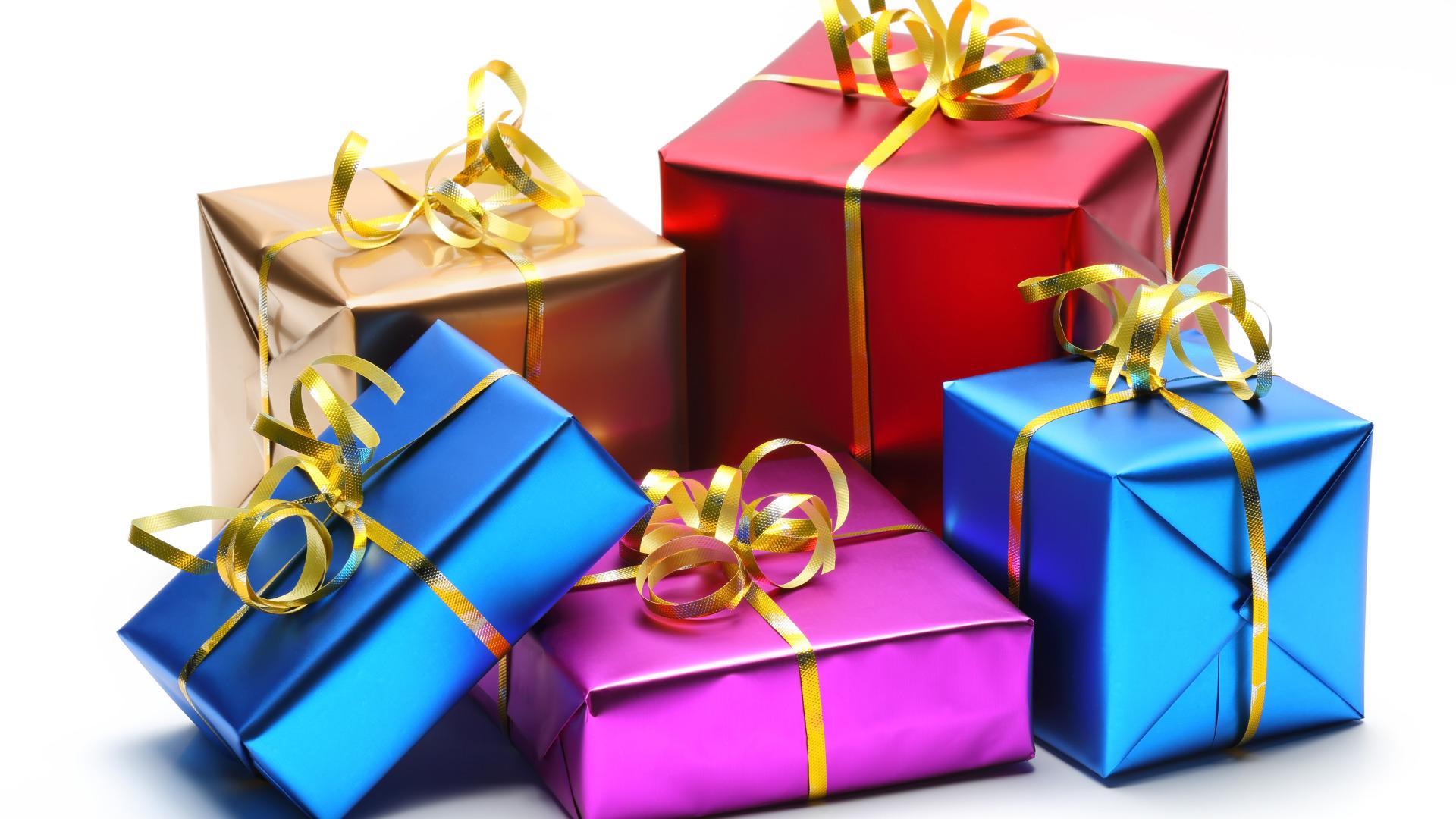 Ваня, открытка с подарками
