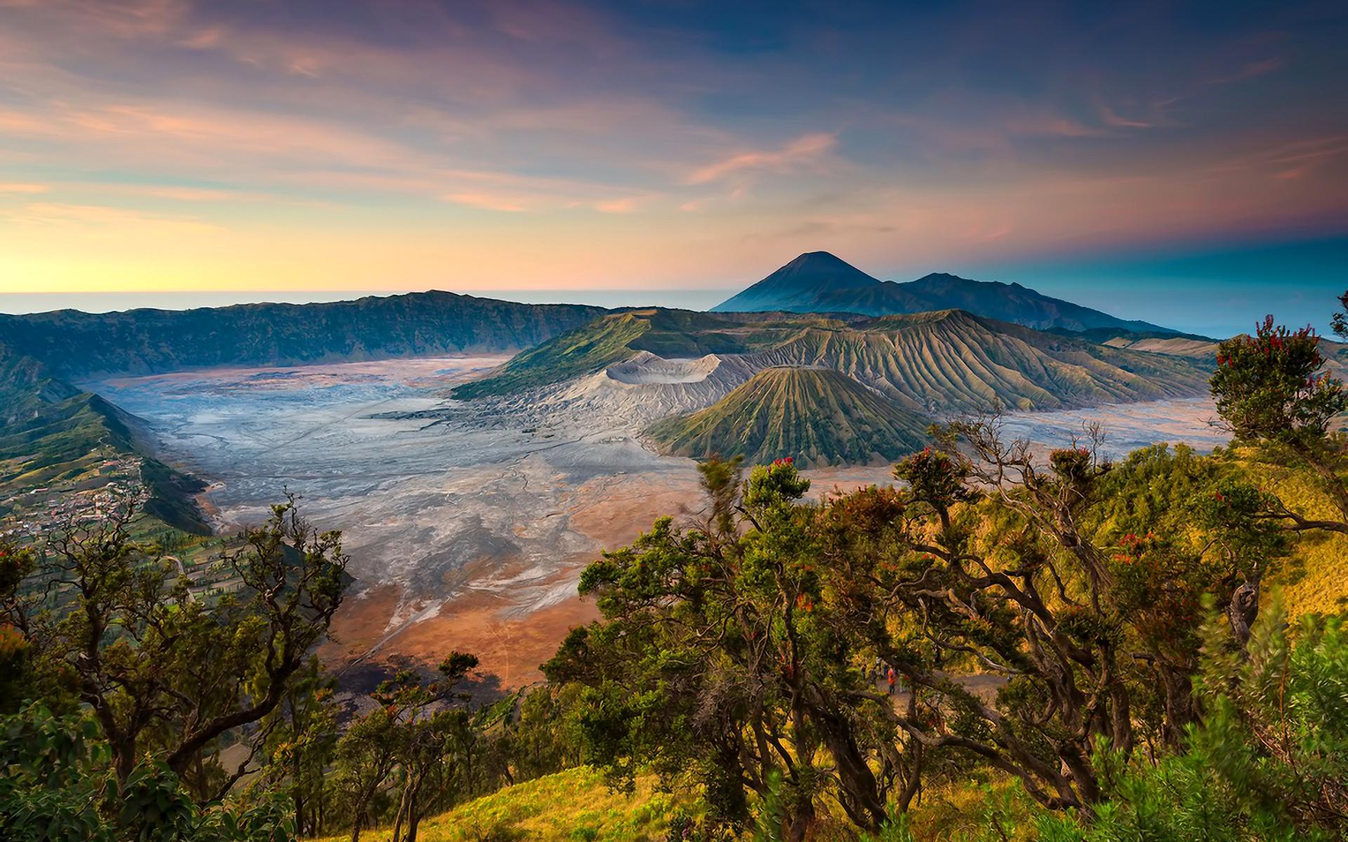 природа река деревь облака Индонезия  № 1670672 без смс