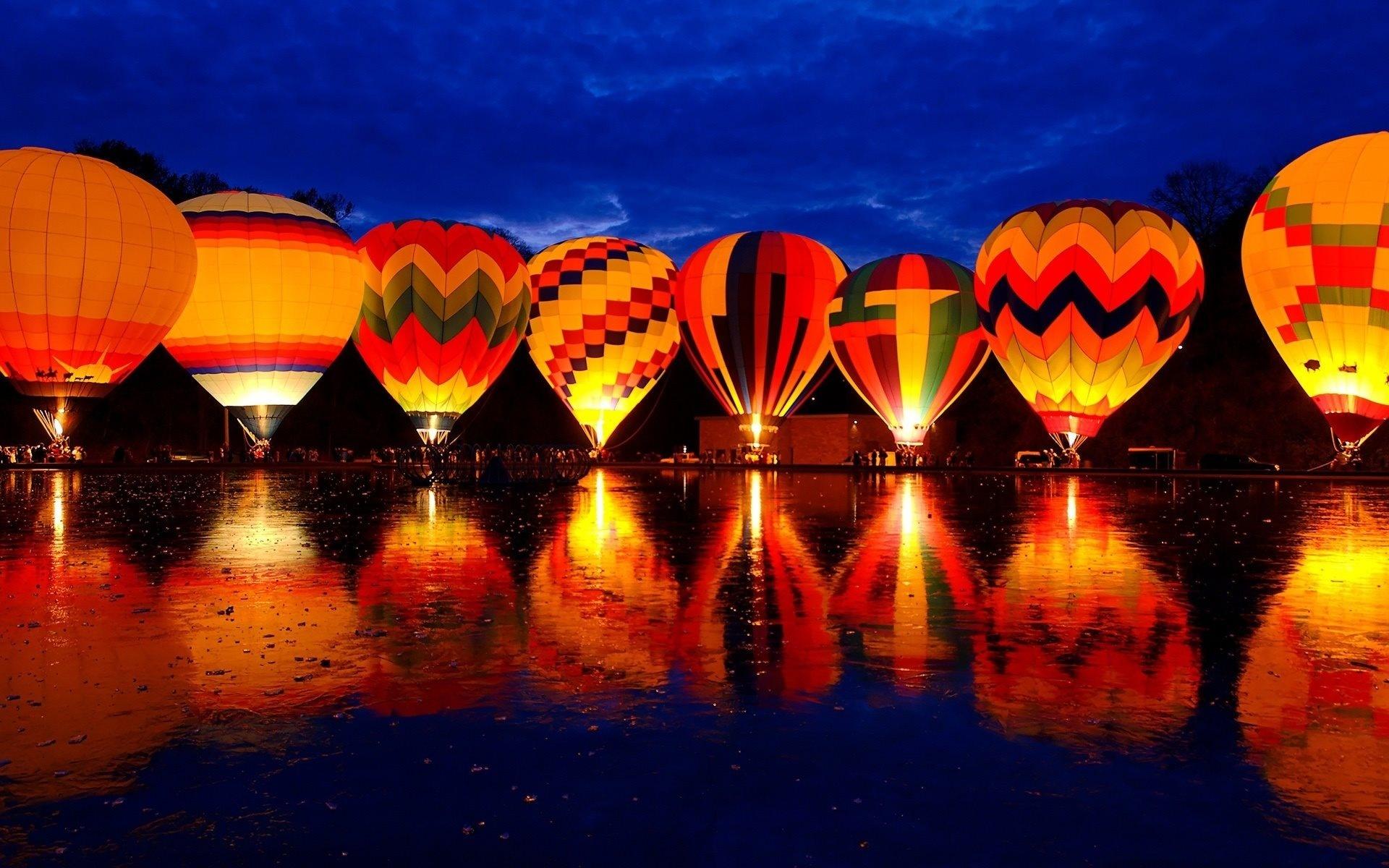 природа деревья архитектура мост воздушные шары аэростаты nature trees architecture the bridge air balls balloons  № 2627725 без смс