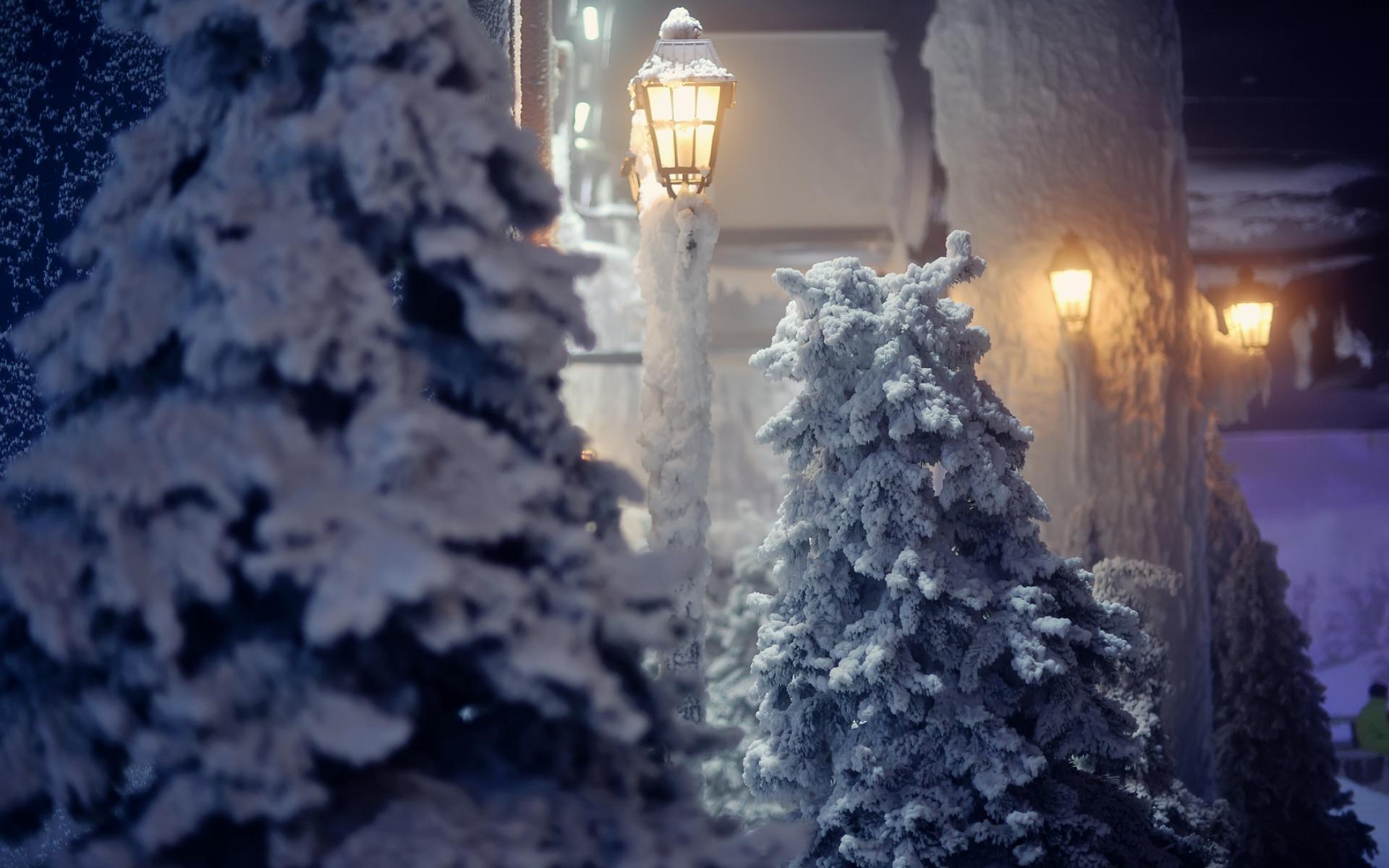 Картинки на рабочий стол новогодние снег идет