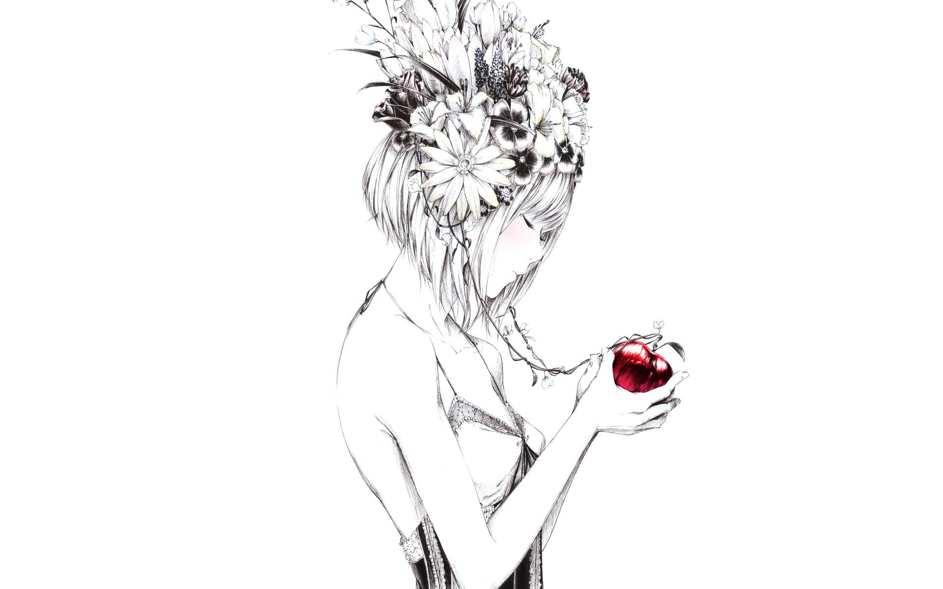 Пожеланием, картинки аниме цветы для срисовки карандашом