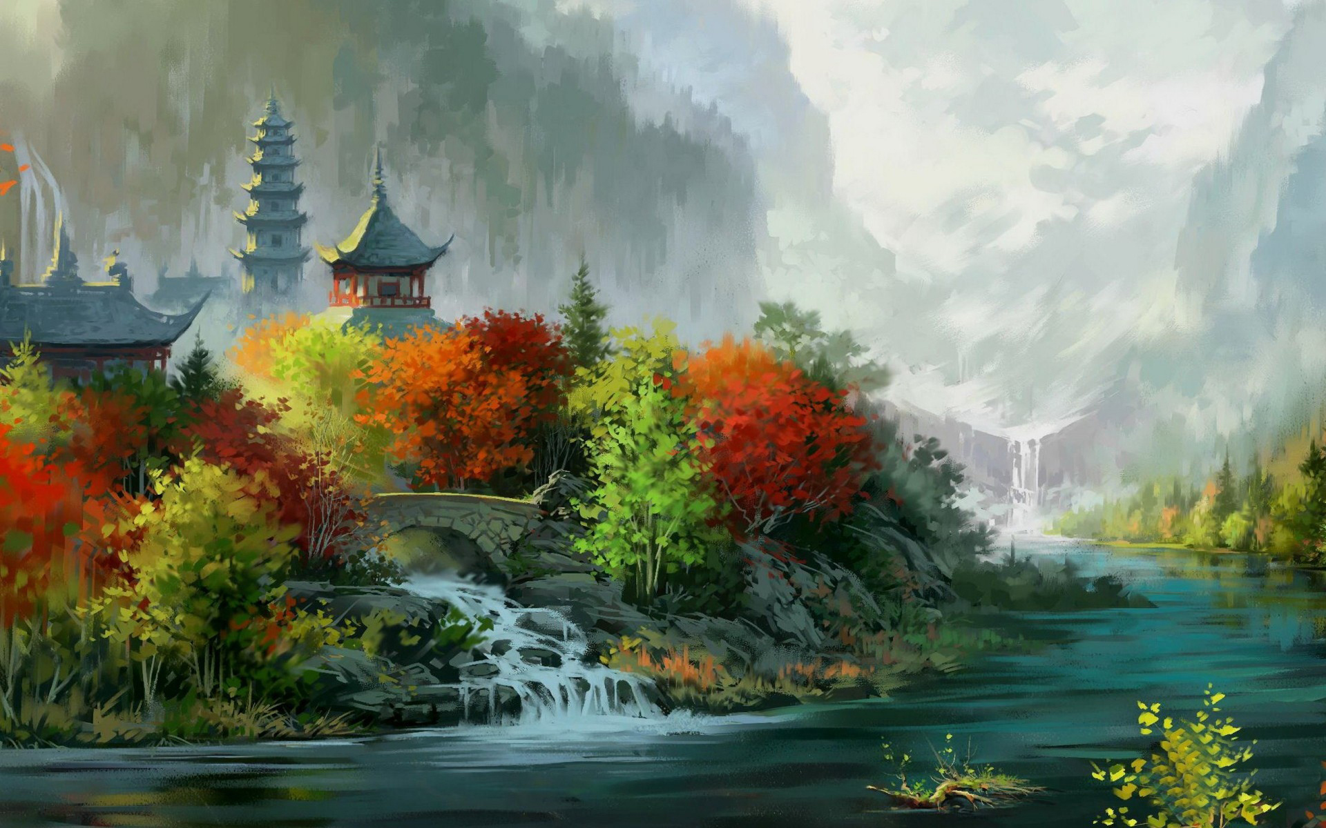 natural environment and chinese painting Digital environment fantasy painting - now with commentary china digital painting - environment tutorial - artist g liulian - продолжительность: 1:41:51 china digital painting 11 775 просмотров.