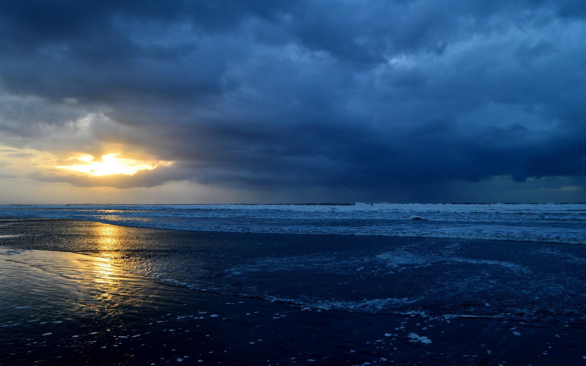 природа море солнце горизонт небо облака  № 717663 загрузить
