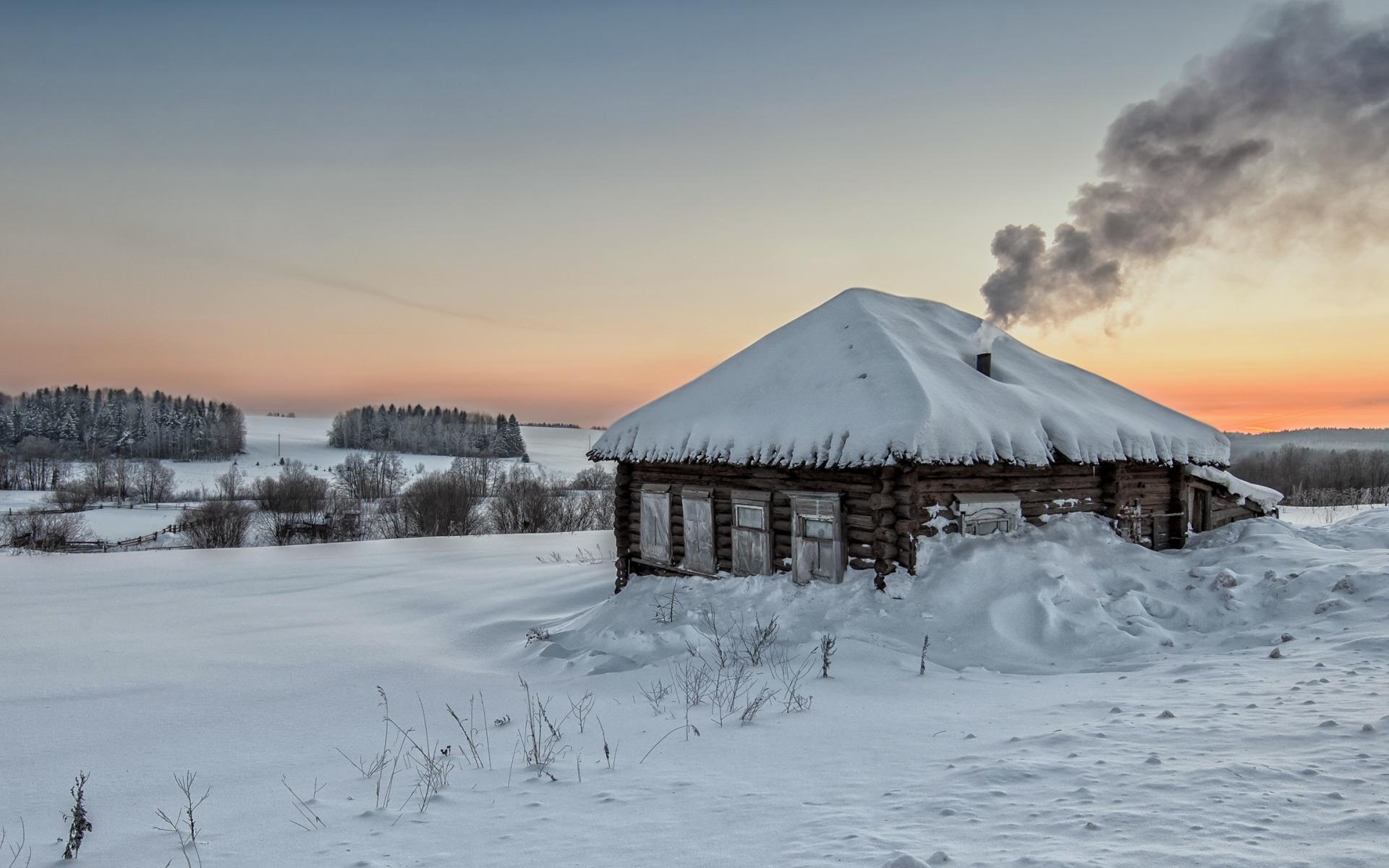 картинки на рабочий стол заснеженная деревня русский музей