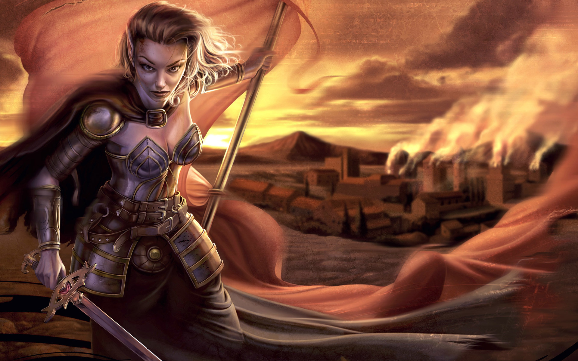Lesbian elven warriors sexual scene