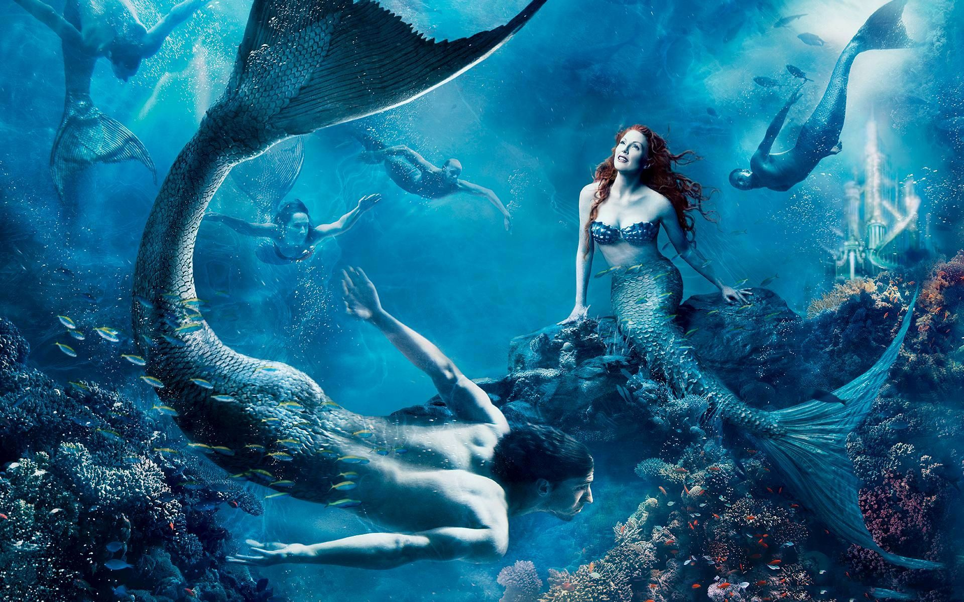 картинки подводного мира или с русалками дома сохранилась
