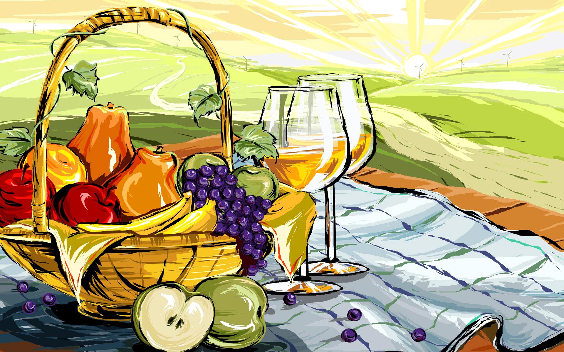 Рисунок на тему еда