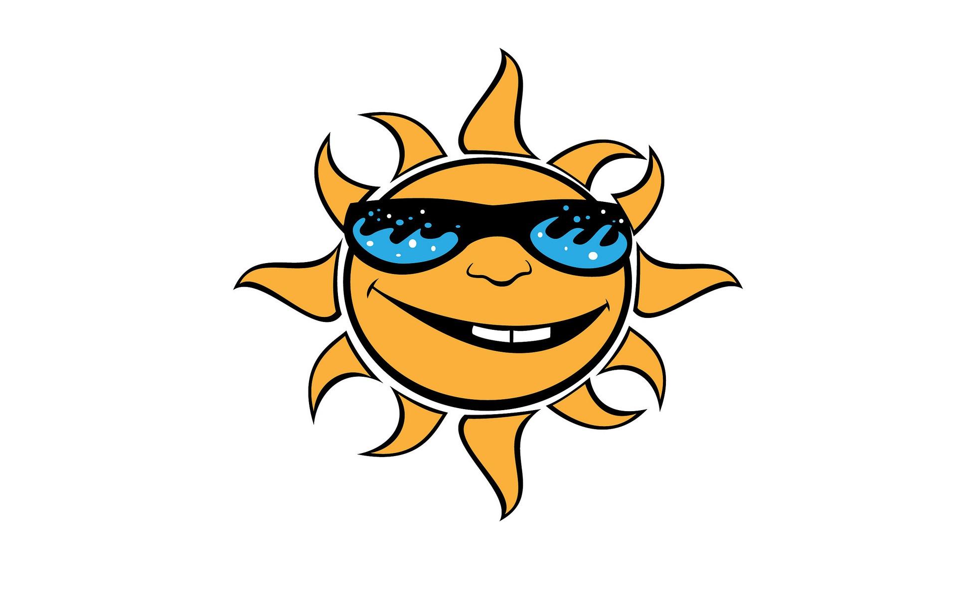 Смешное солнце рисунок, для презентации
