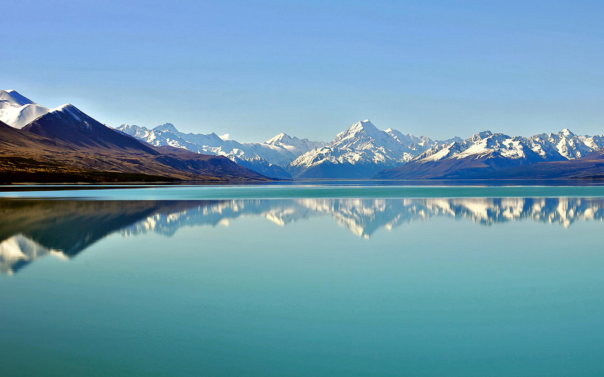 Небо горы озеро  № 2789970 бесплатно
