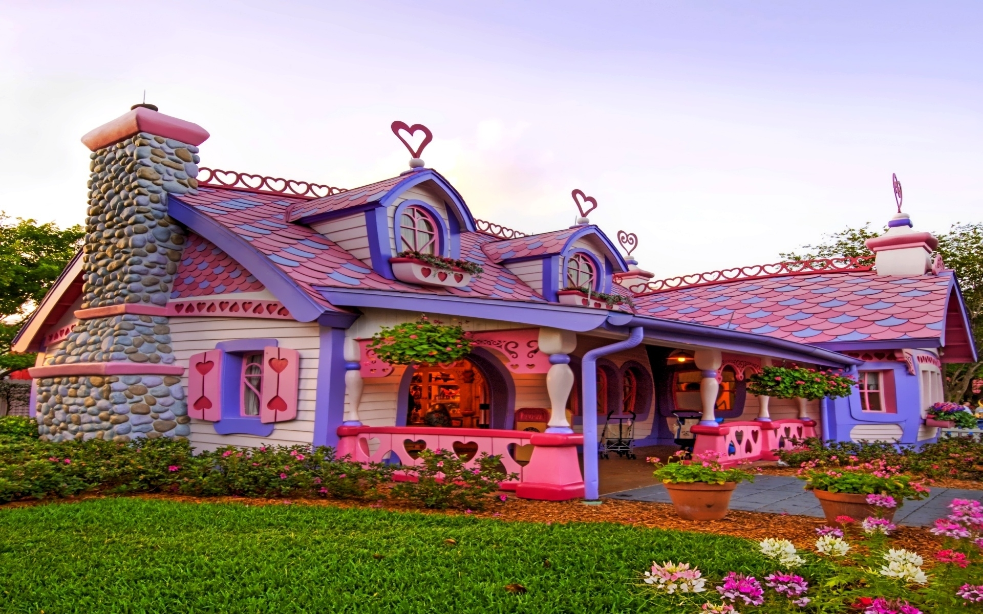Картинки красивые дома, картинки цветами надписью