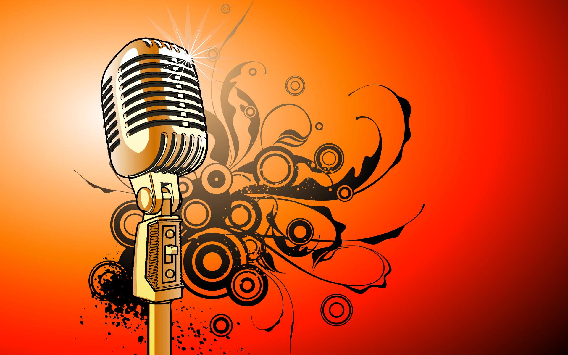Картинка микрофон и ноты для детей