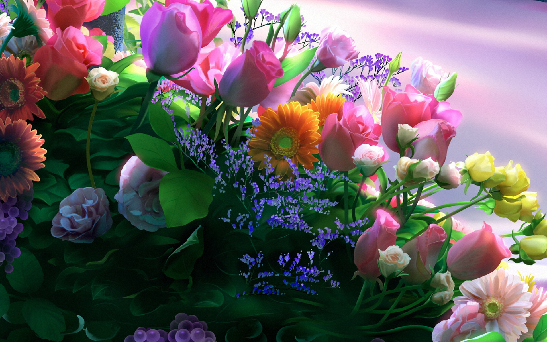 Поздравление о живом цветке