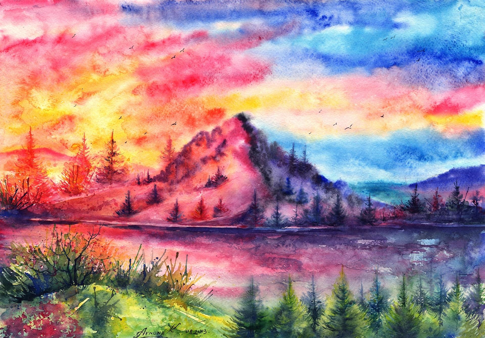 Картинки красивые пейзажи которые можно срисовать