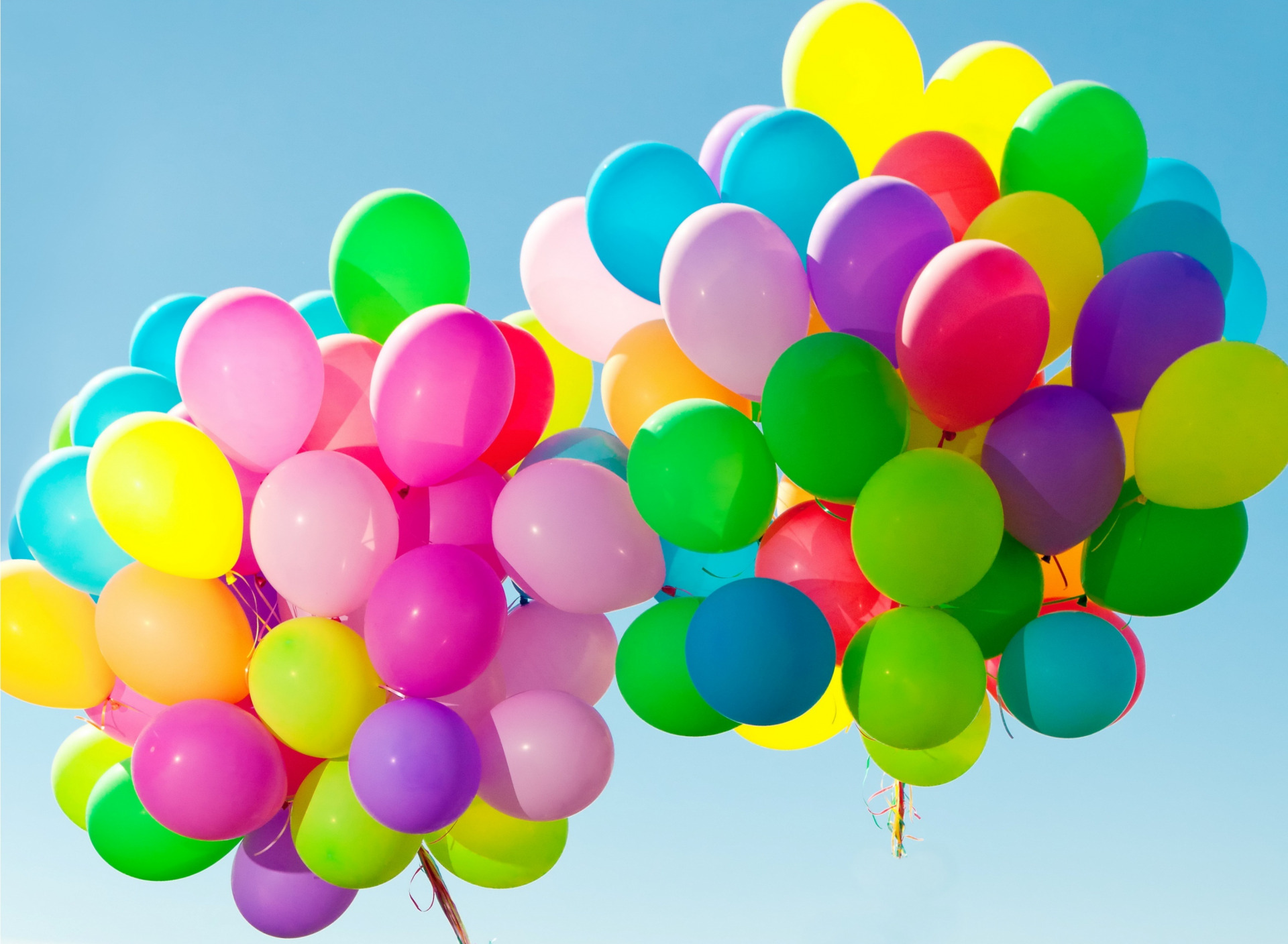 поздравления с разноцветными шарами в стихах