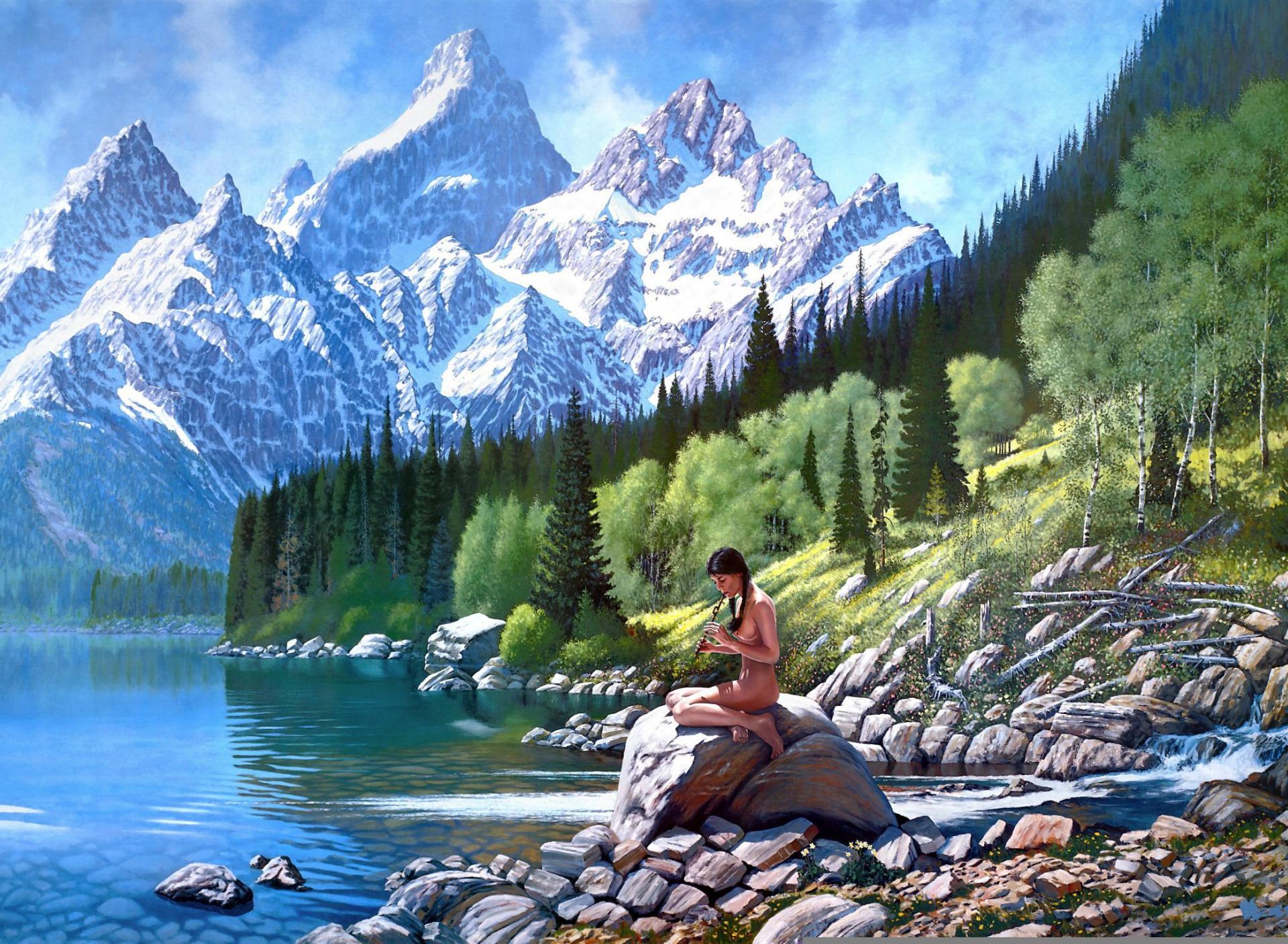 Постеры горный пейзаж