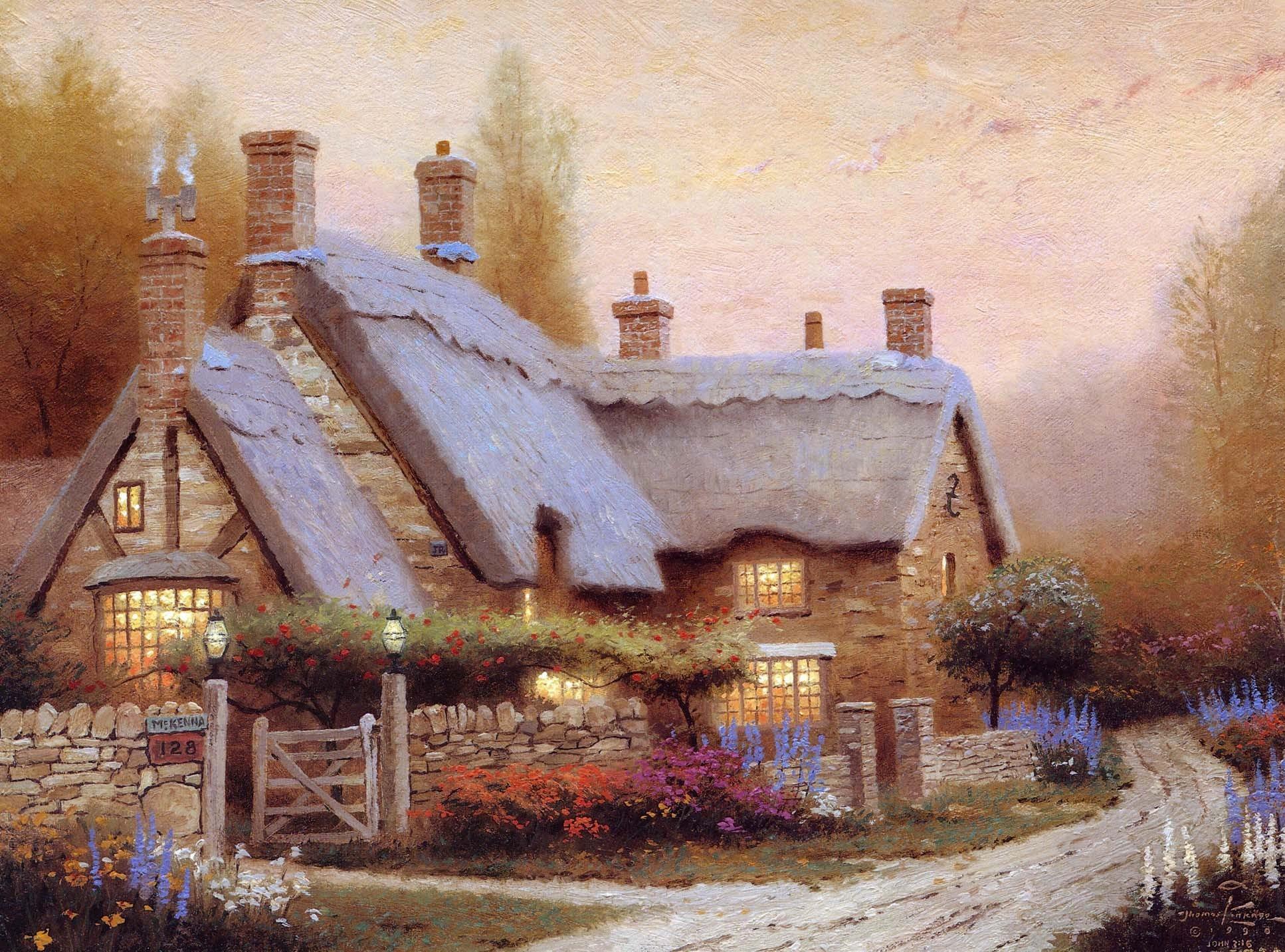 Красивый древний дом картинка