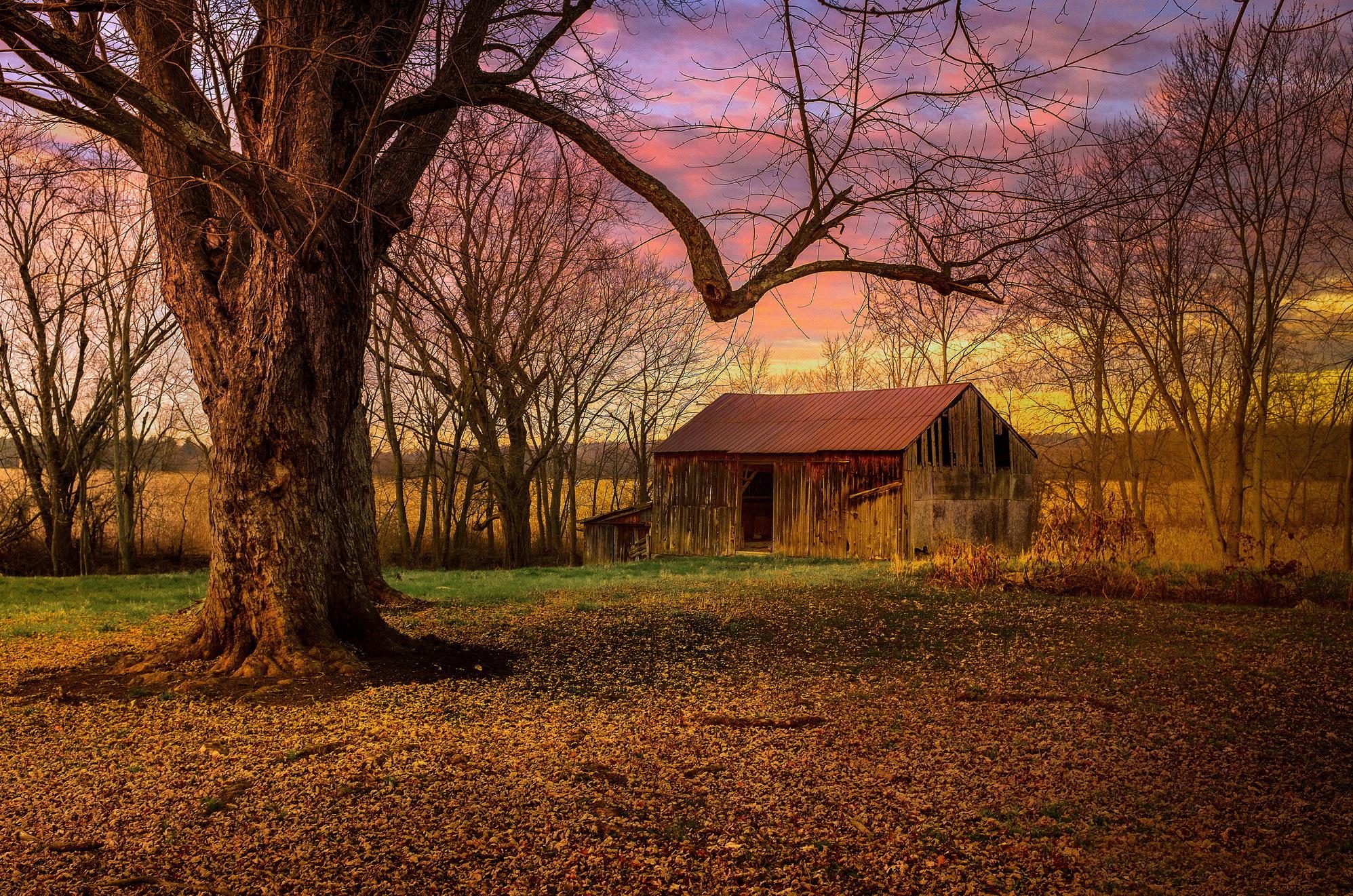 горы сарай осень mountains the barn autumn  № 387082 без смс