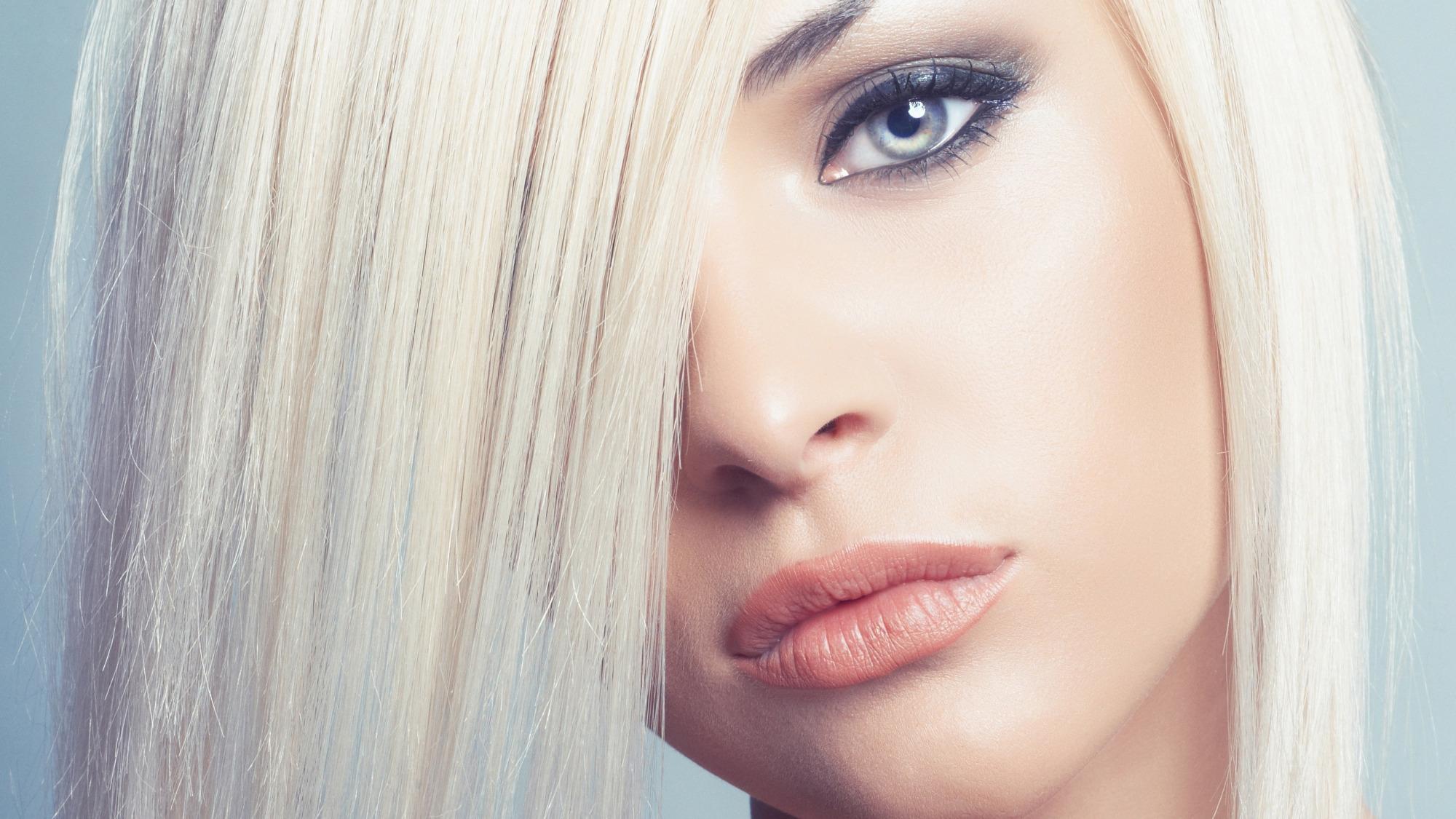 Макияж для волос в блонд