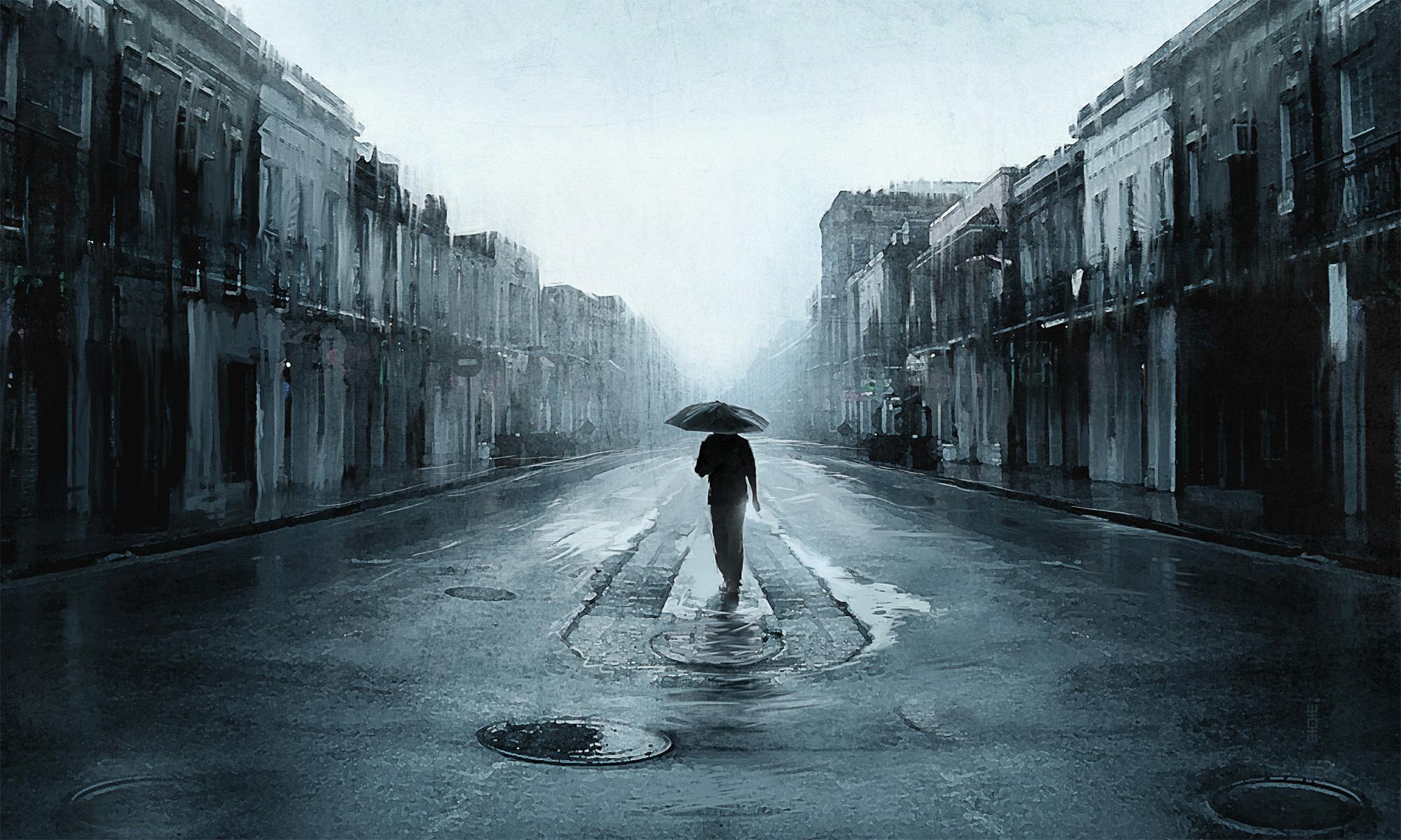 Картинки о дожде и грусти, днем