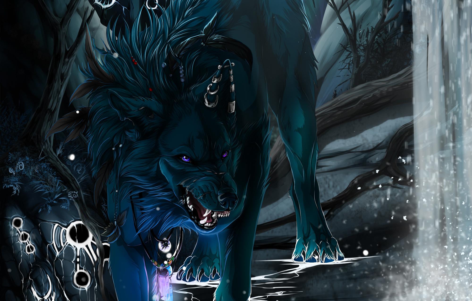 Черный волк эпическая картинка
