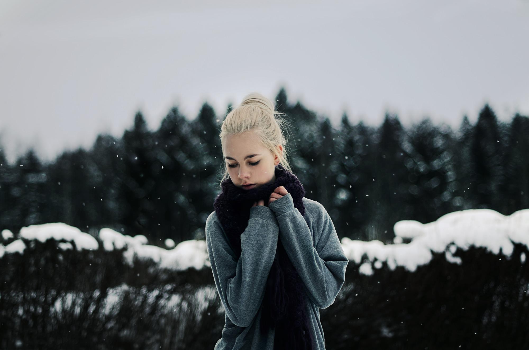 Днем рождения, картинки девушки зимой без лица