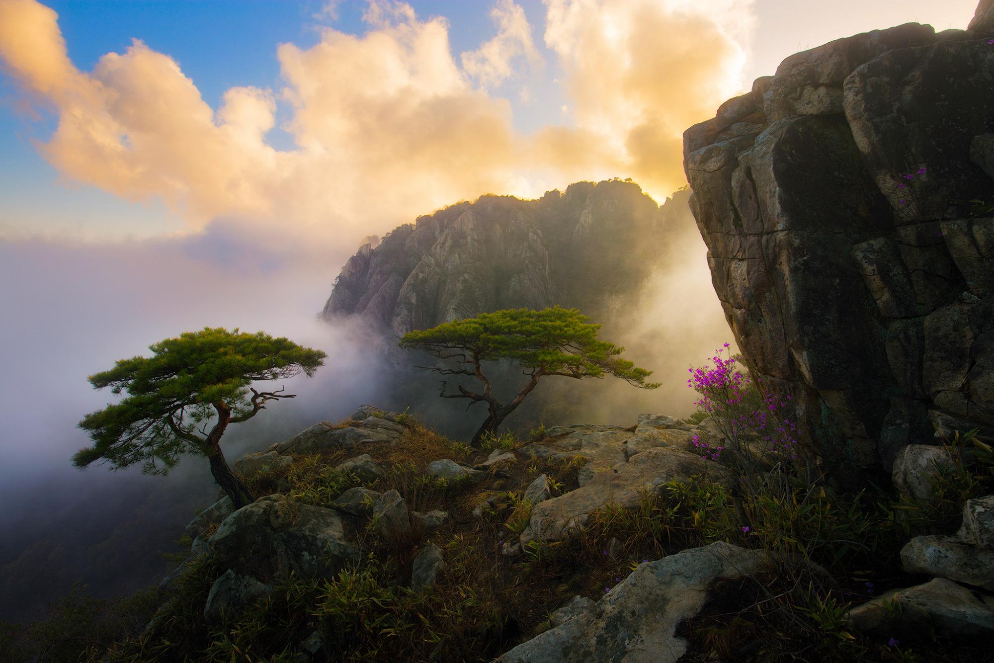 природа небо облака горы скалы  № 514716  скачать