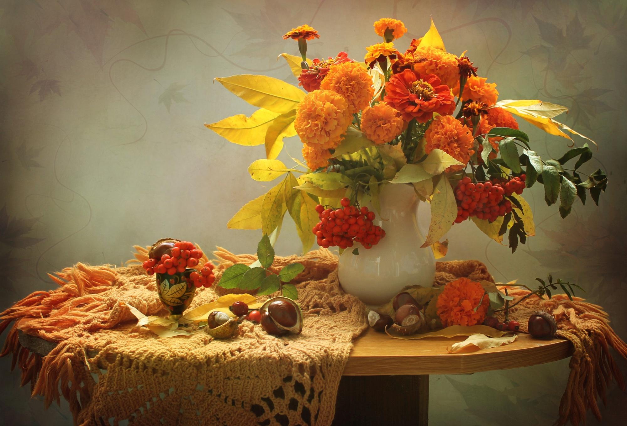 прекрасного осеннего вечера картинка графичные цветы один