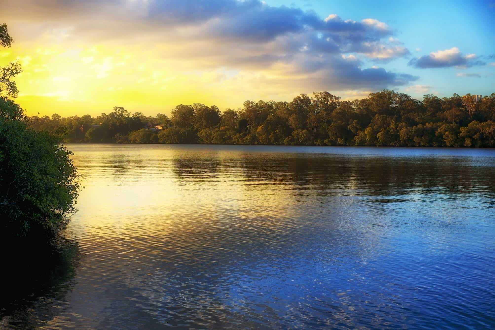 Открытки природы с отображением у воде