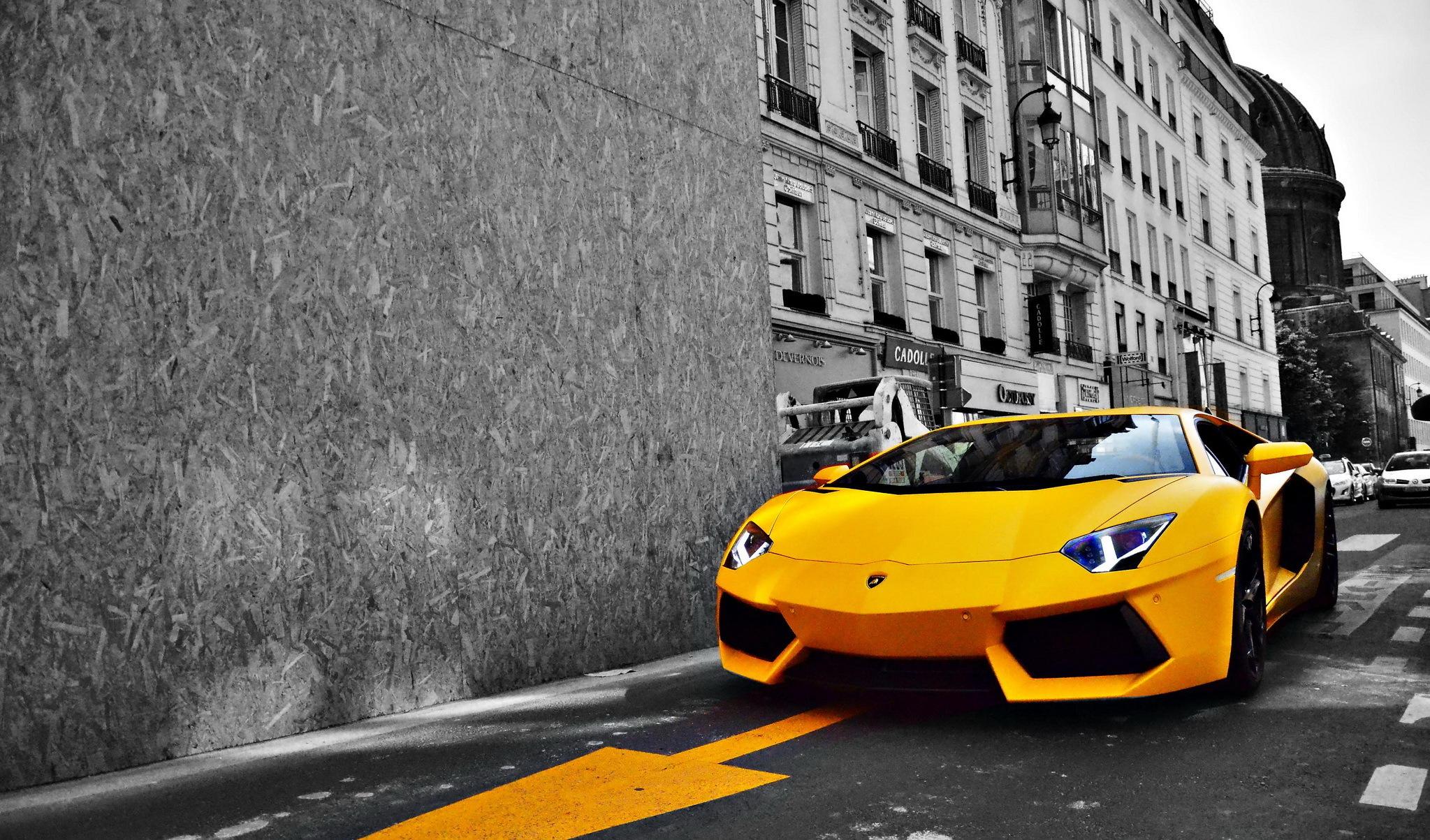 автомобиль желтый car yellow  № 546938 загрузить