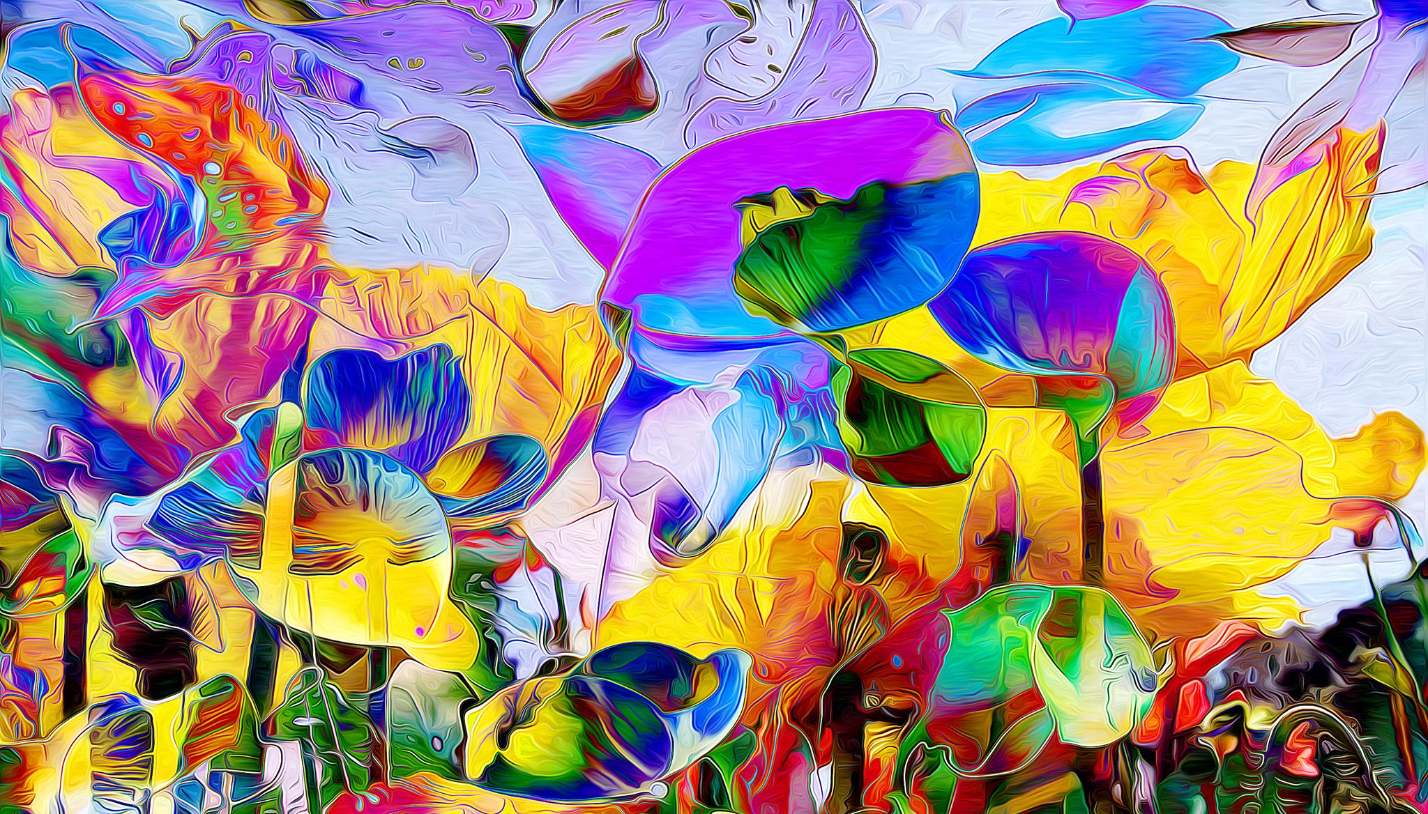Яркие картинка абстракции