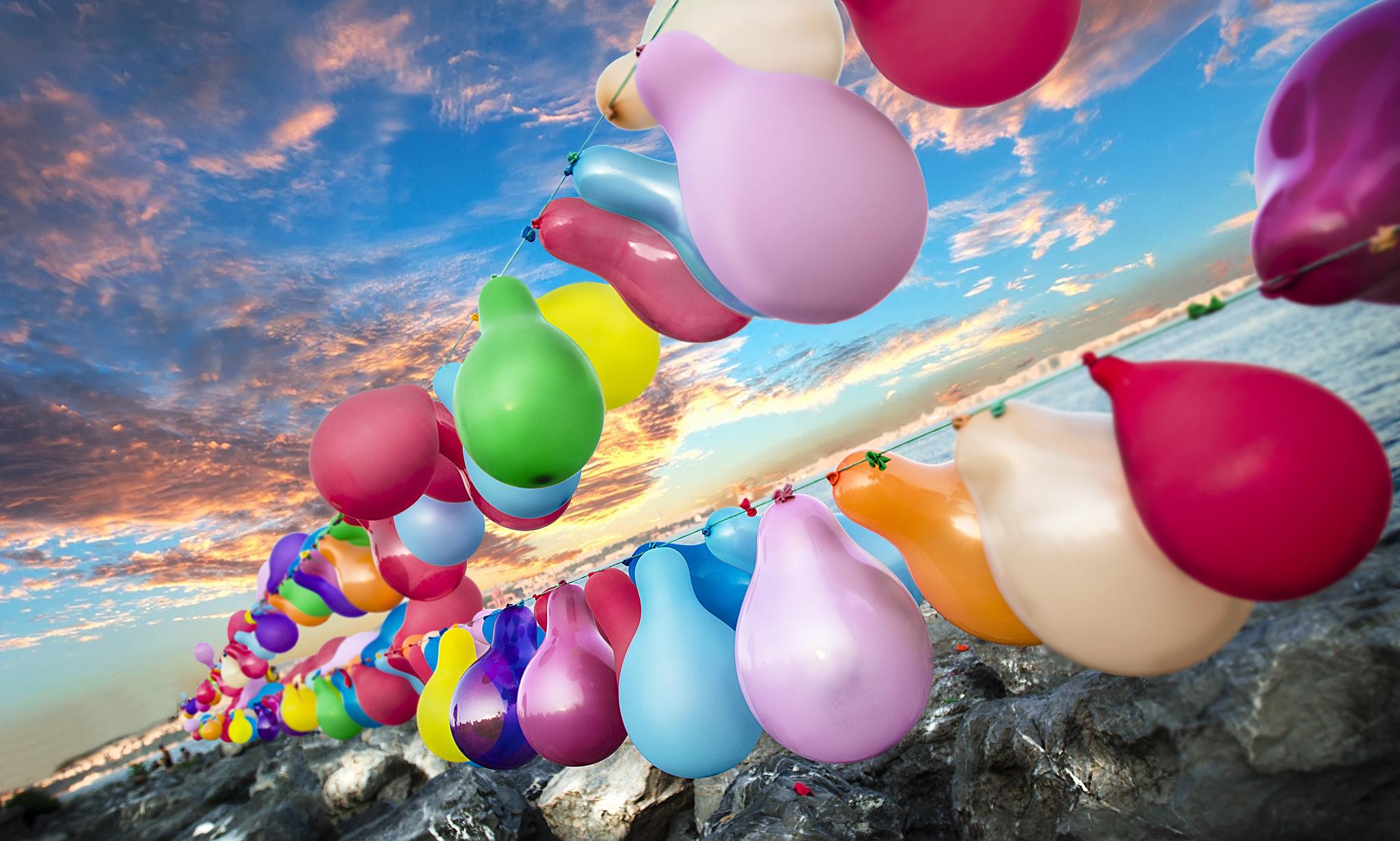 обои на рабочий стол воздушные шарики с днем рождения сколько качеств может